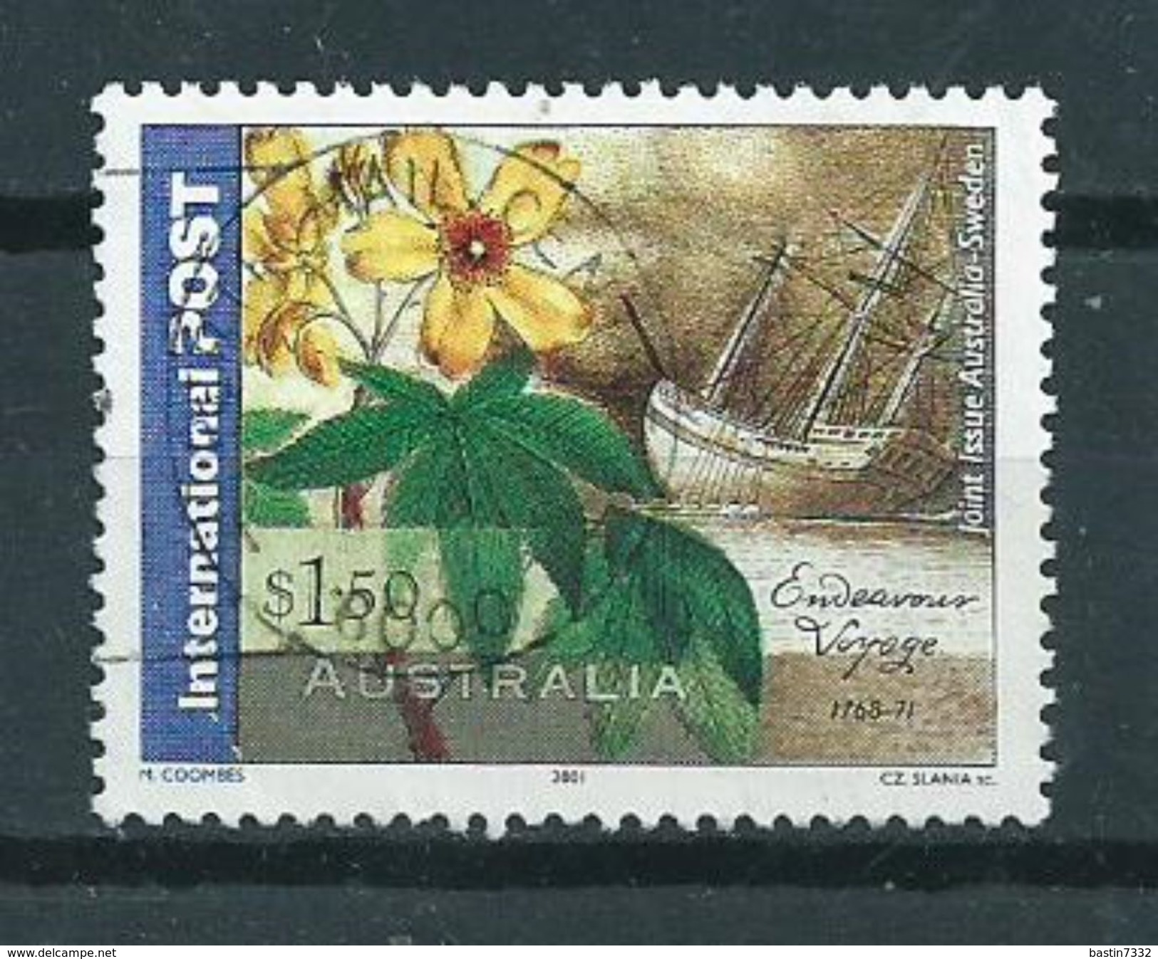 2001 Australia $1.50 D.Solander Used/gebruikt/oblitere - 2000-09 Elizabeth II