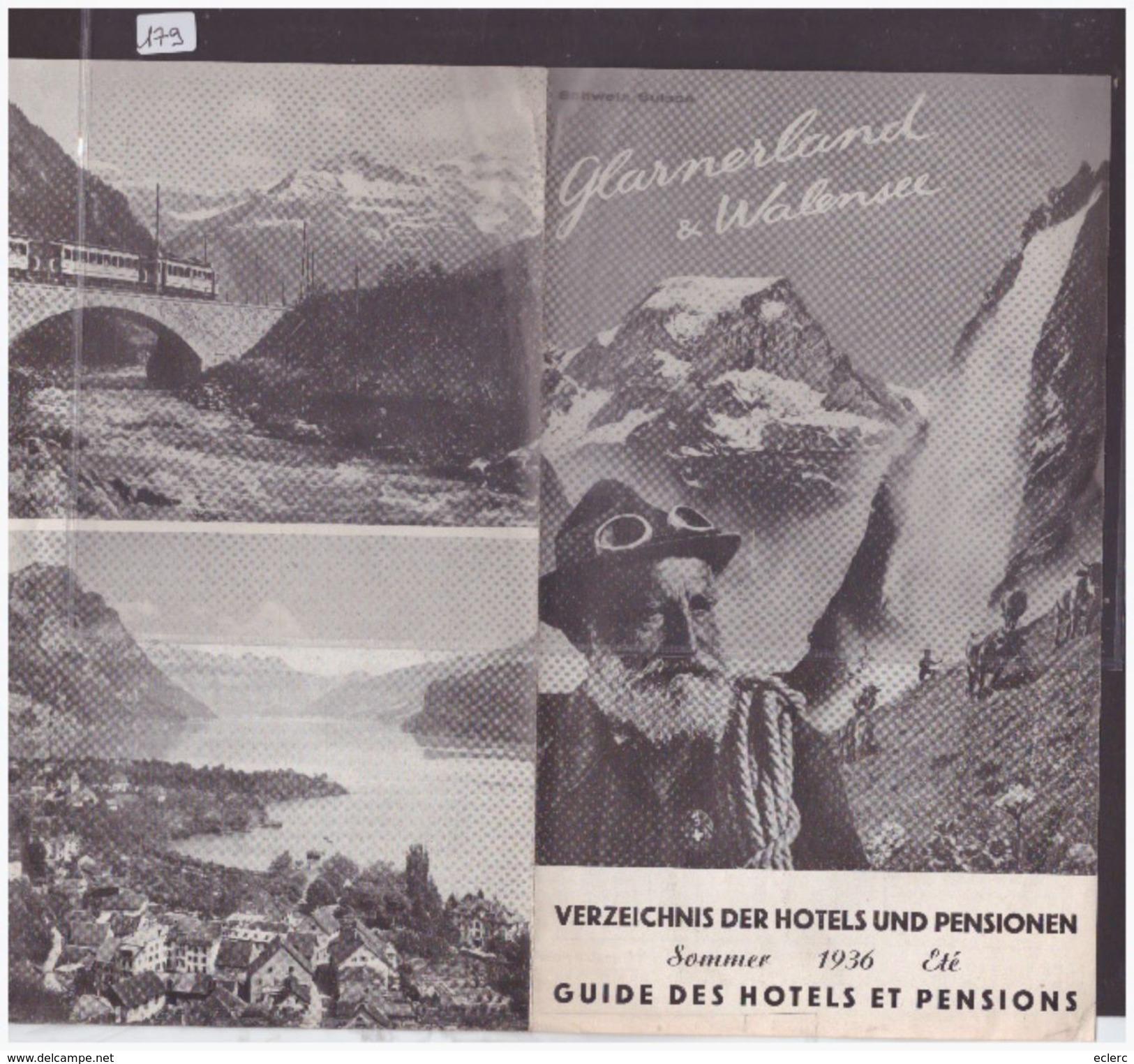 GLARUS SUISSE - GLARNERLAND & WALENSEE - DEPLIANT 2 VOLETS - TB - Tourism Brochures