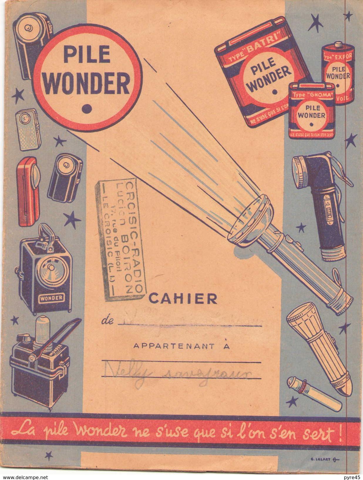 Protège-cahiers Publicitaire Pile Wonder ( Déchirure ) - Piles