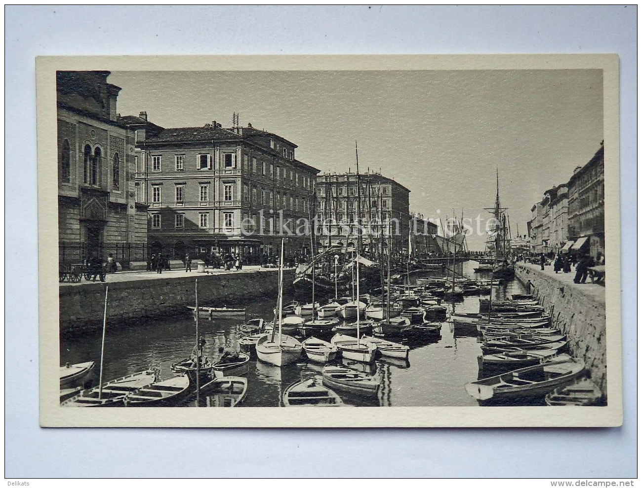 TRIESTE Canale Barca Vela Pesca Veliero Vecchia Cartolina 22543 - Trieste