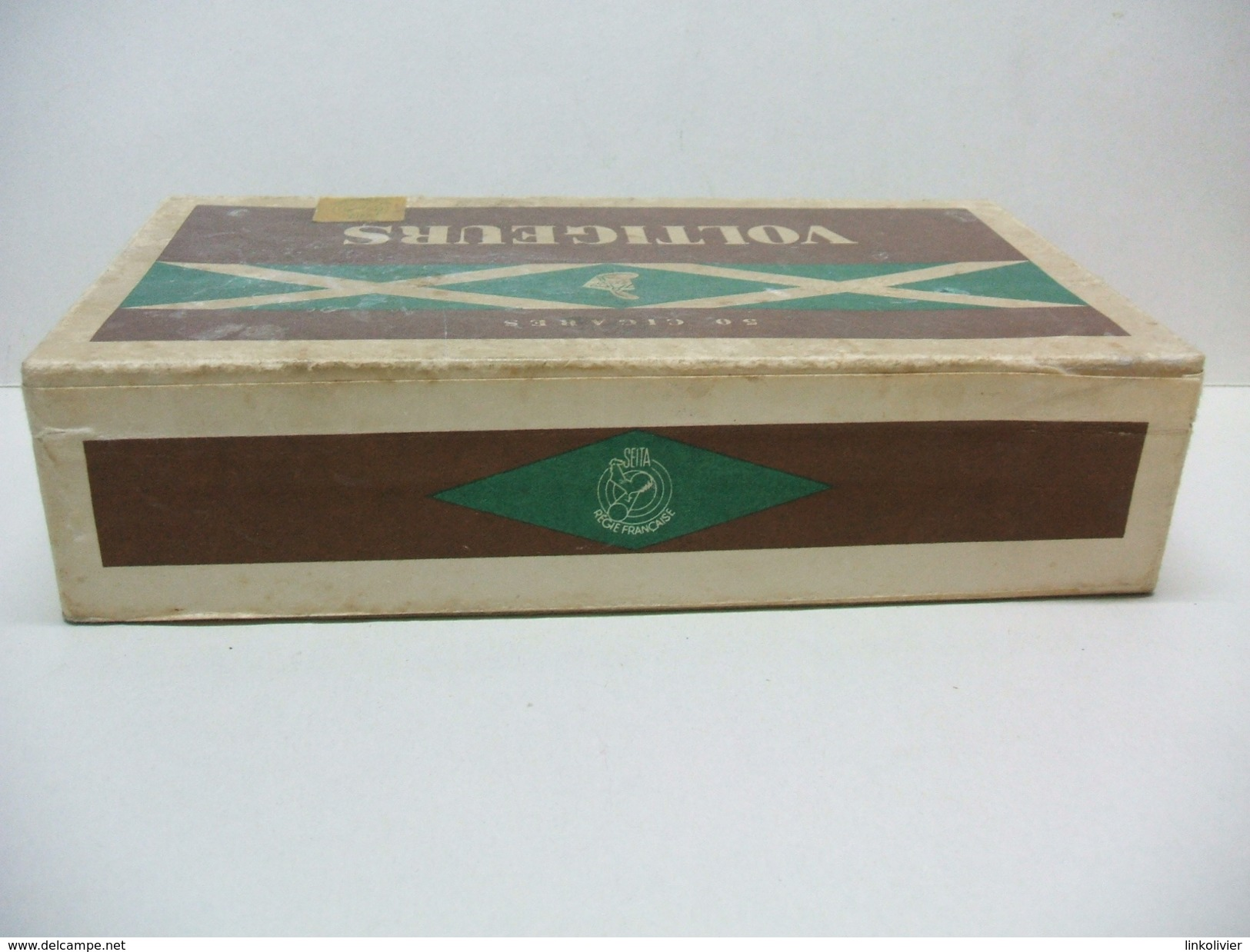 BOITE Carton 50 Cigares Vide VOLTIGEURS - Contenitore Di Sigari