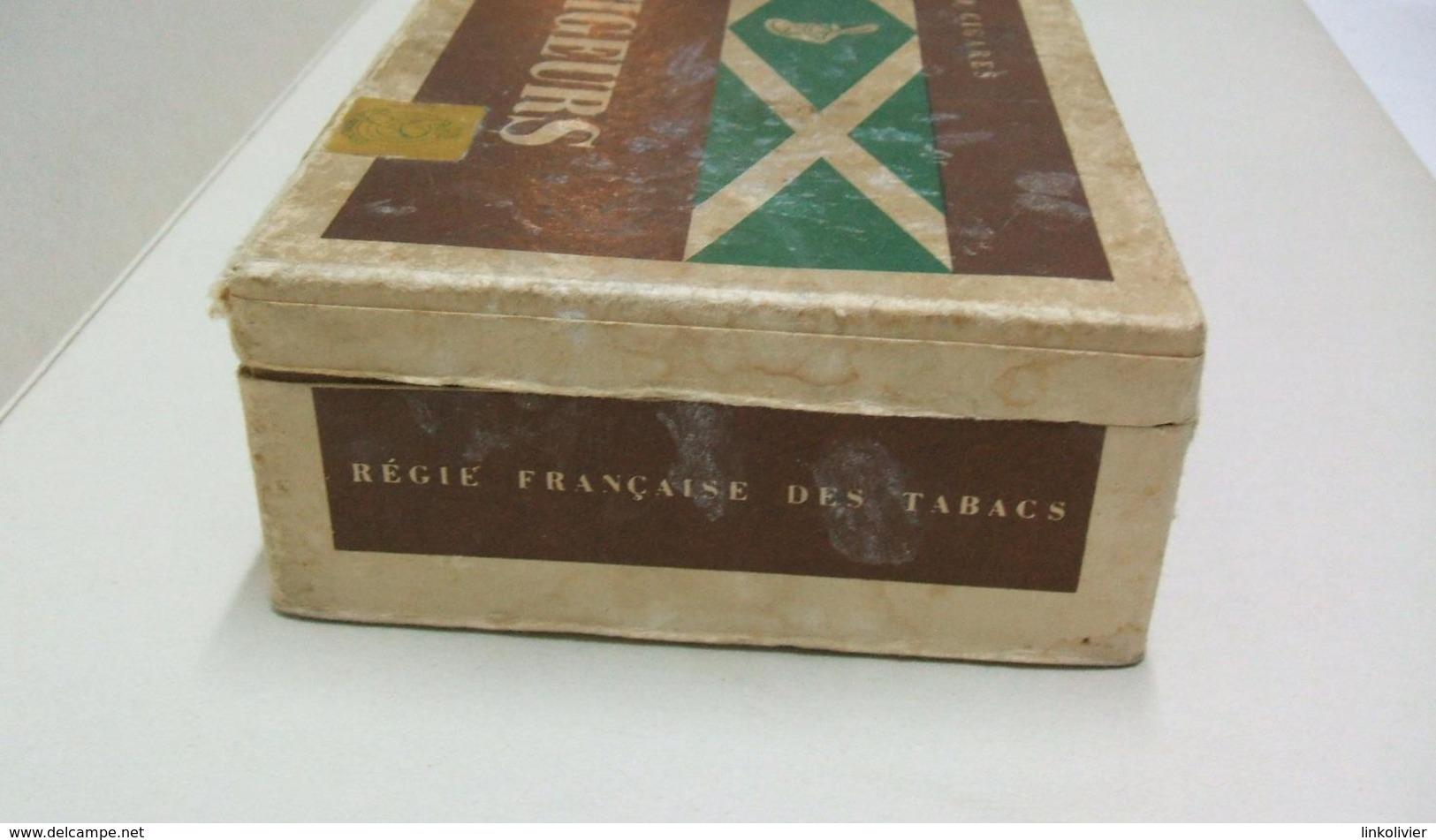BOITE Carton 50 Cigares Vide VOLTIGEURS - Étuis à Cigares