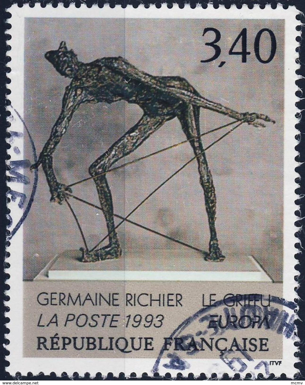 2798 Le GRIFFU  TABLEAU De RICHIER  OBLITERE ANNEE 1993 - Frankreich