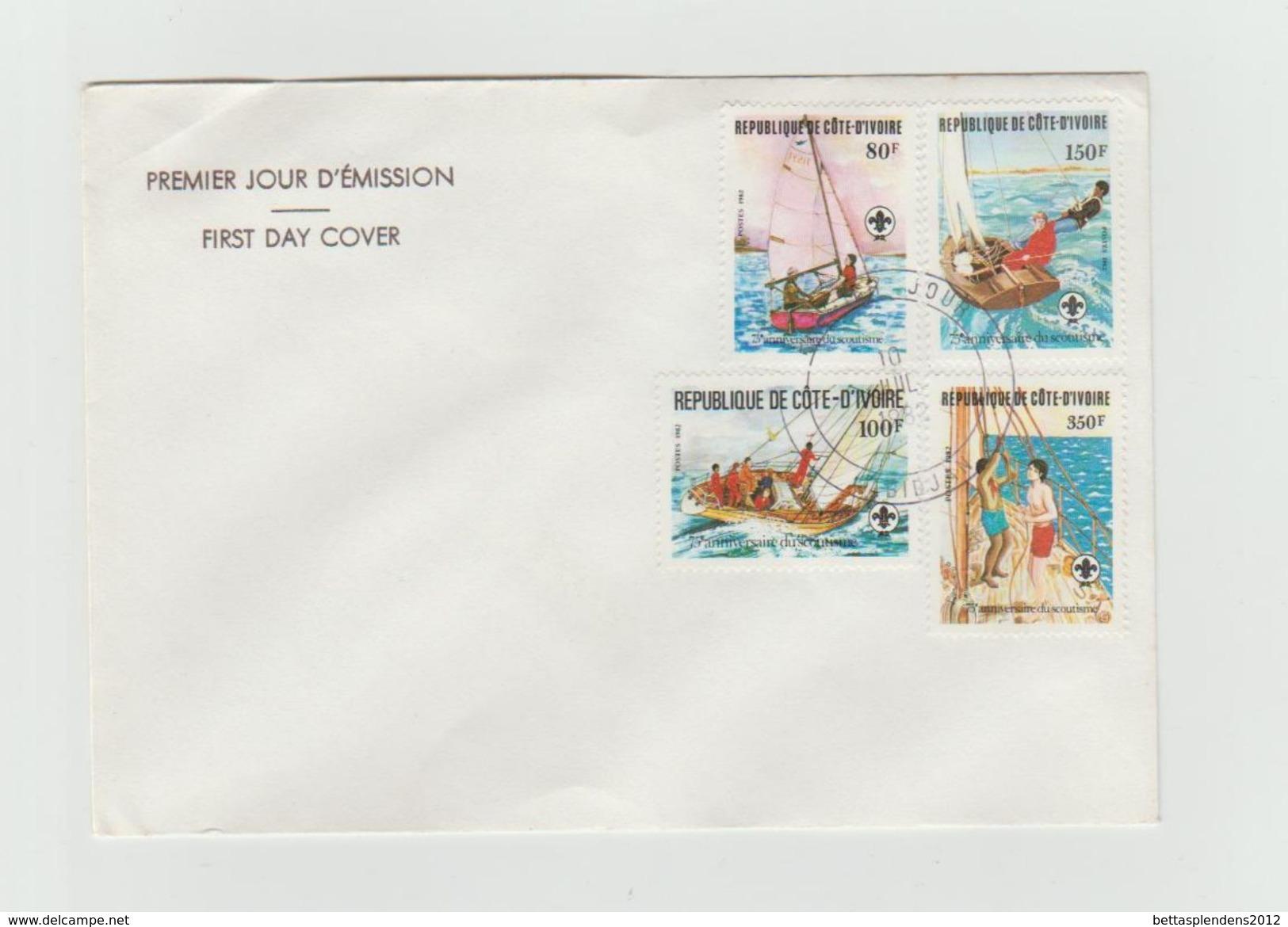FDC 1982 - Anniversaire Du Scoutisme - Côte D'Ivoire (1960-...)