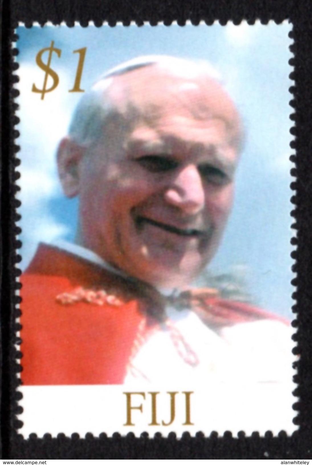 FIJI 2005 Pope John Paul II Memoriam: Single Stamp UM/MNH - Fiji (1970-...)