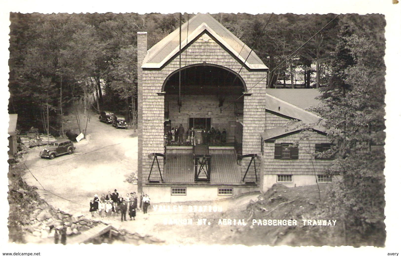 Valley Station, Cannon Mountain Aerial Passenger Tramway, Cannon Mountain, New Hampshire RPPC - White Mountains