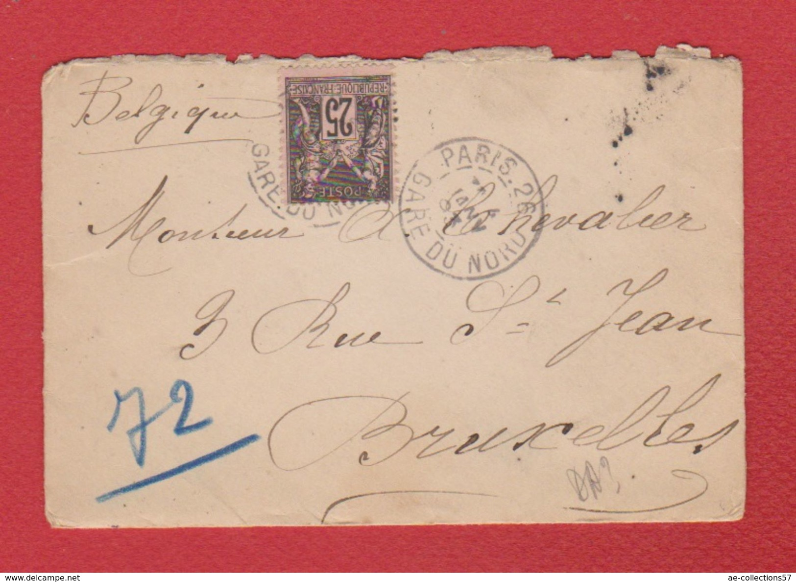 Enveloppe  / De Paris / Pour Bruxelles / 4 Janvier 1903 - Marcophilie (Lettres)