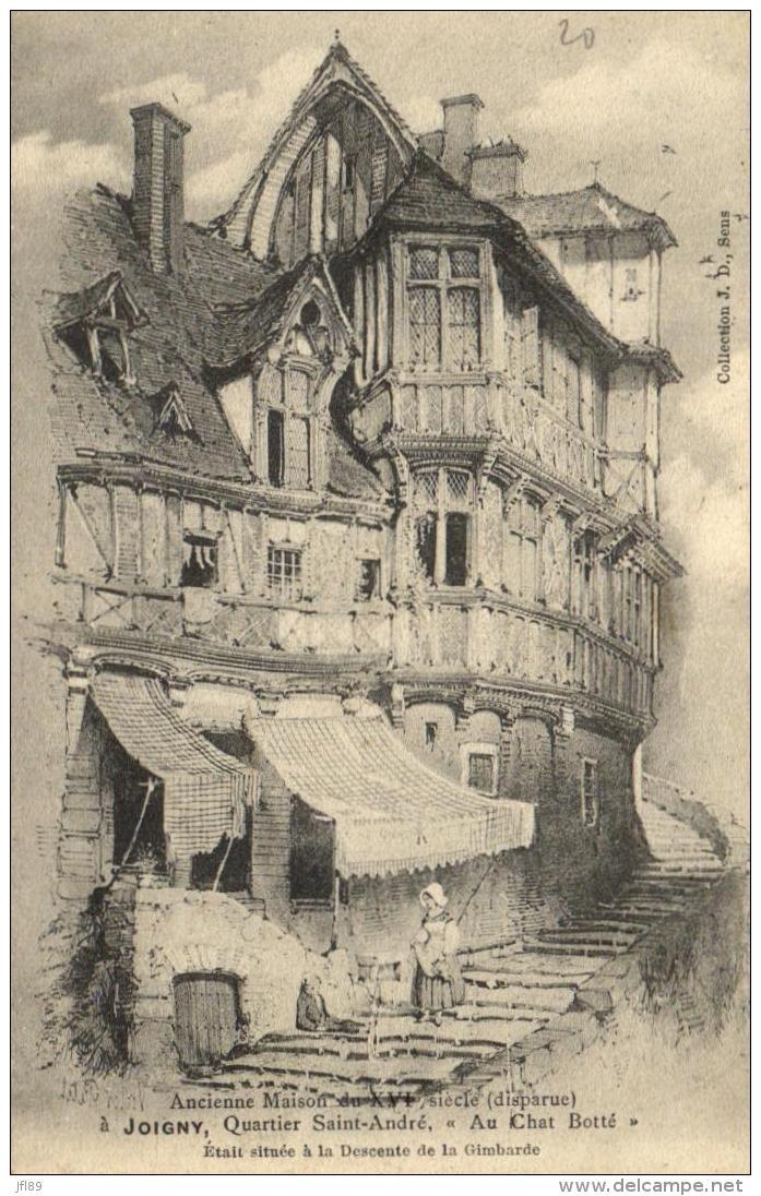 """B 2125 - Joigny  Ancien  (89) Quartier Saint André  """"   Au Chat Botté """" - Joigny"""