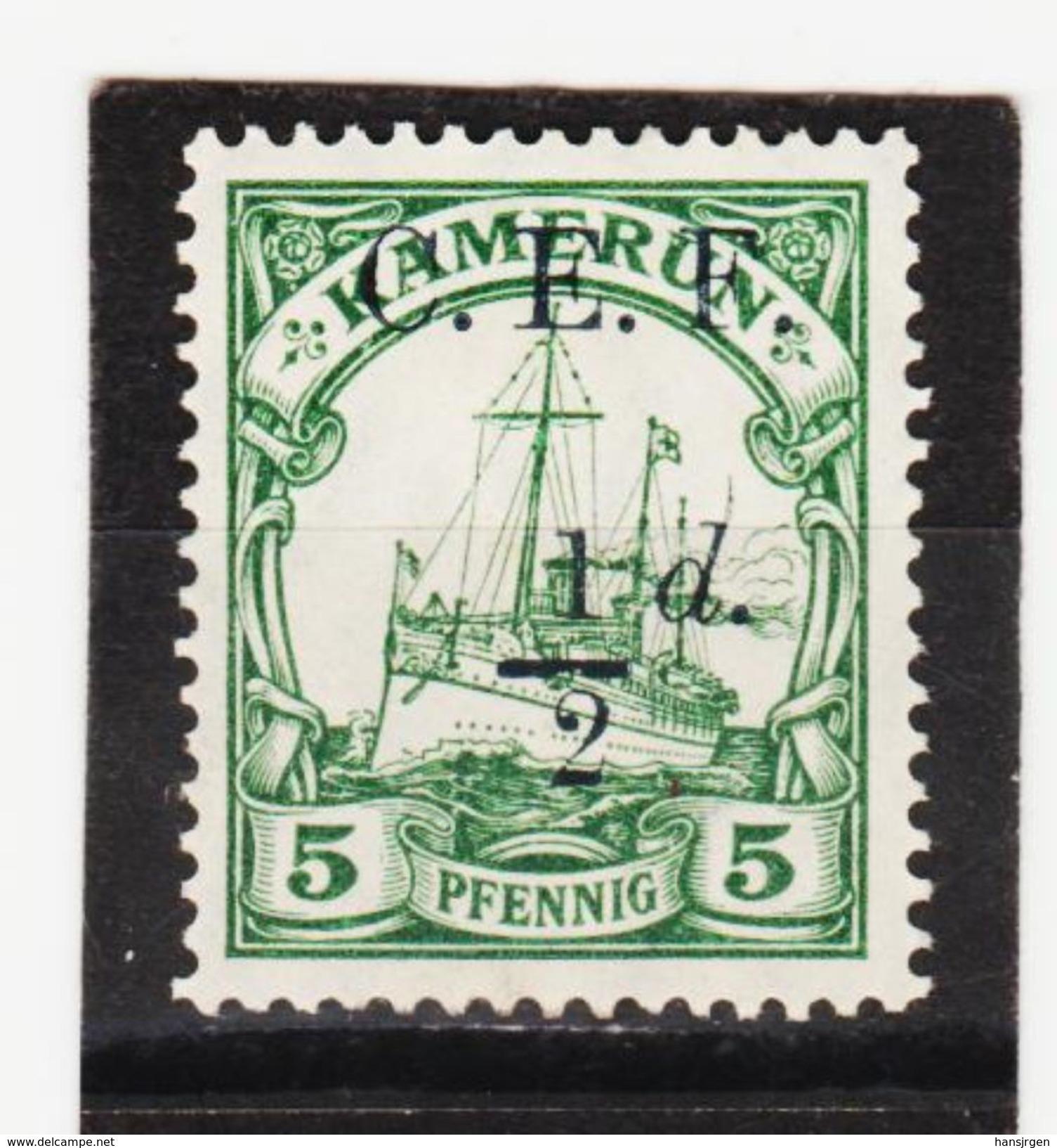 ÖMV1606 KAMERUN 1915  MICHL  2  BRITISCHE BESETZUNG ** Postfrisch  SIEHE ABBILDUNG - Kolonie: Kamerun