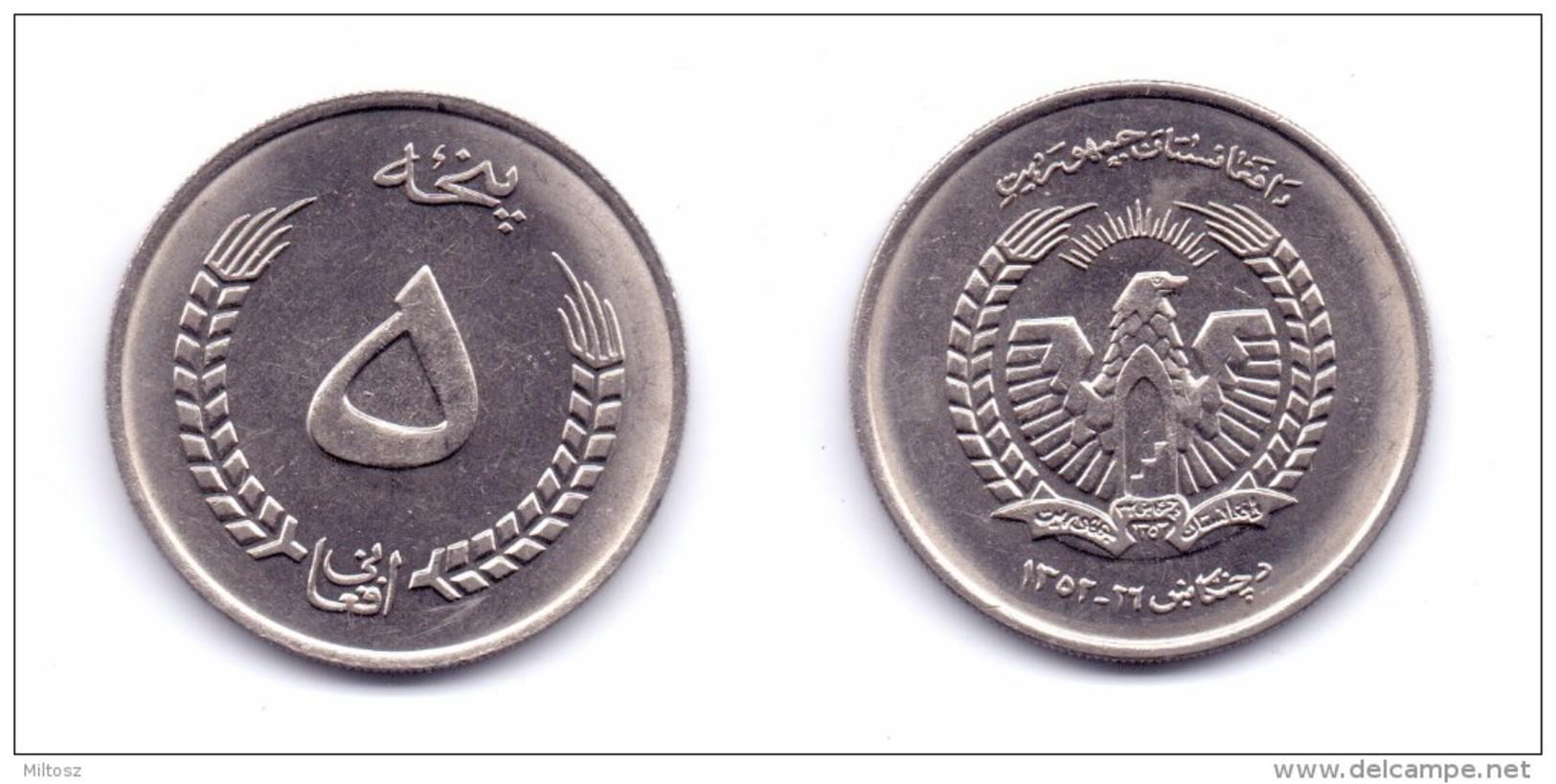 Afghanistan 5 Afghanis 1973 (1352) - Afghanistan