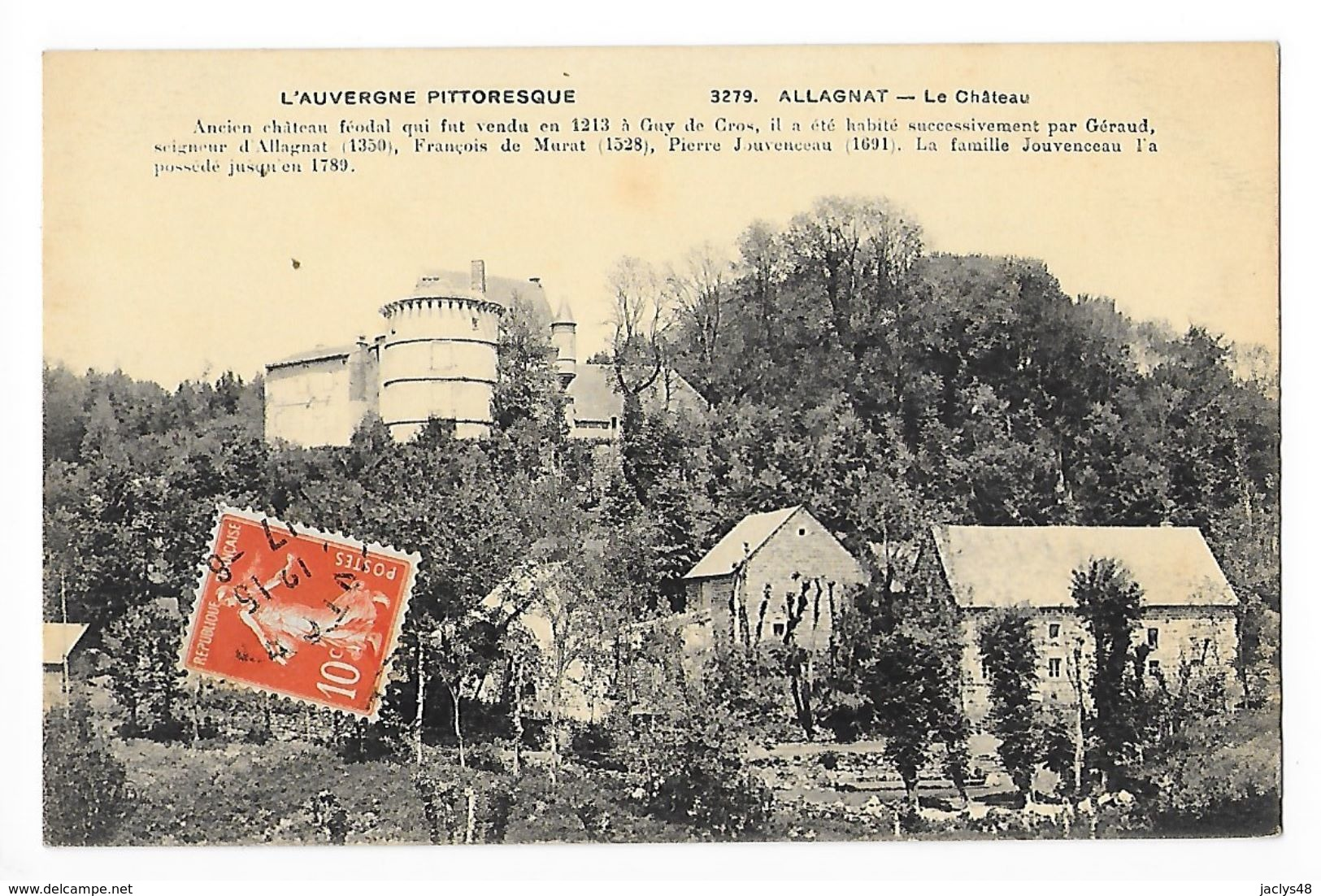 ALLAGNAT  (CEYSSAT)   (cpa 63)  Le Château   -     - L 1 - France