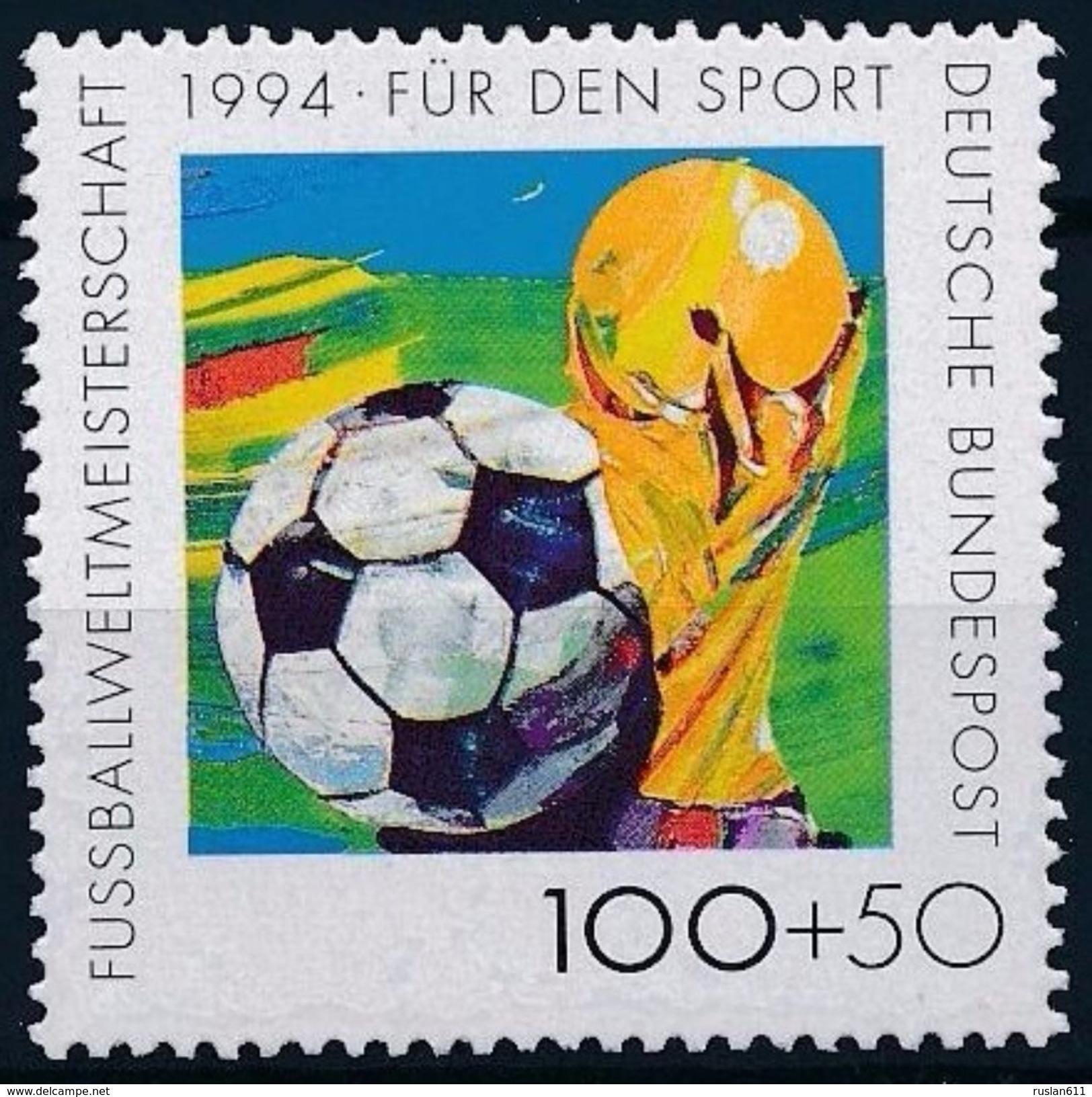 Soccer Football Germany #1718 1994 World Cup USA MNH ** - 1994 – États-Unis