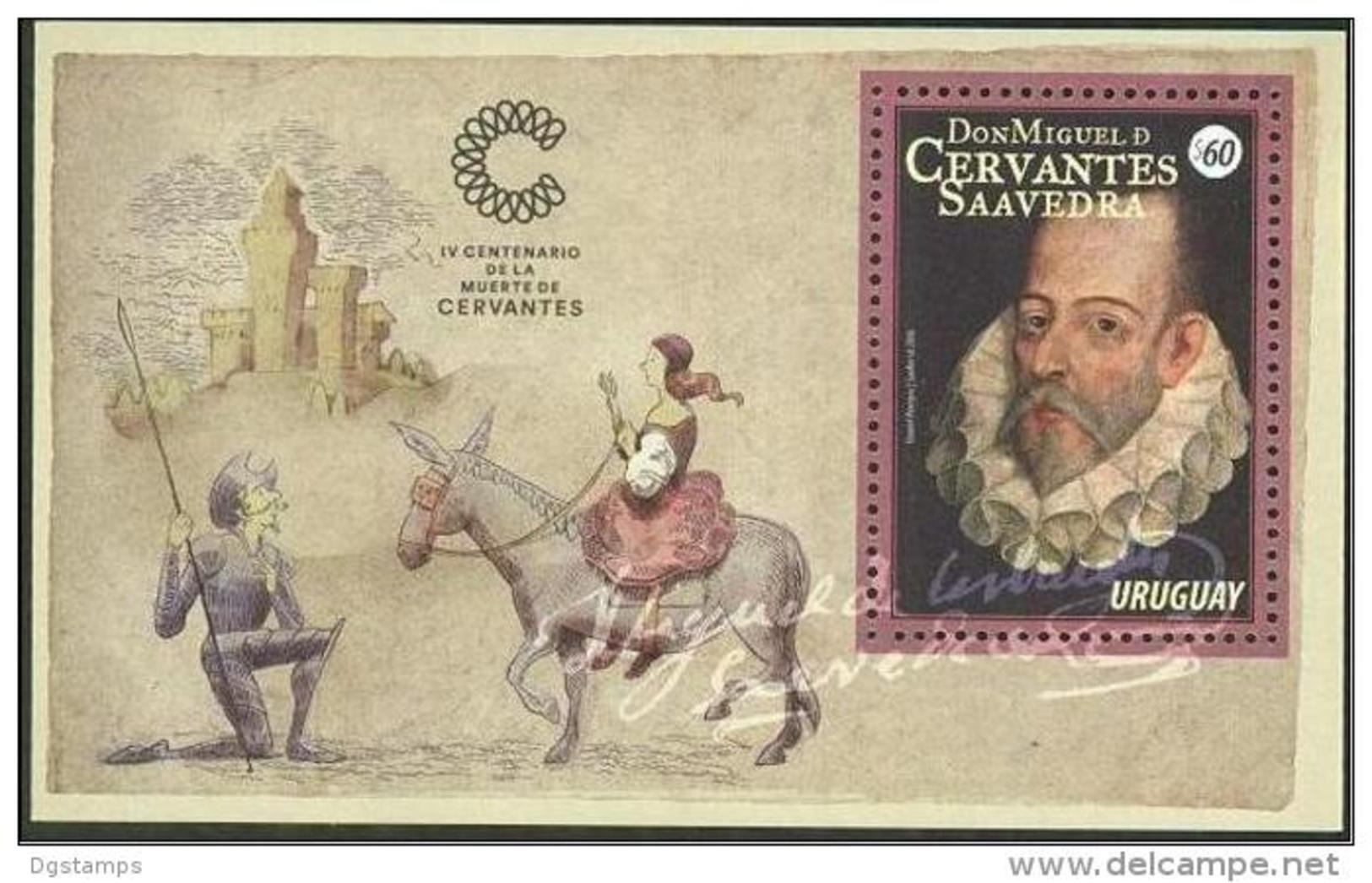 Uruguay 2016 ** HB 400 Años De Miguel De Cervantes. See Desc. - Uruguay