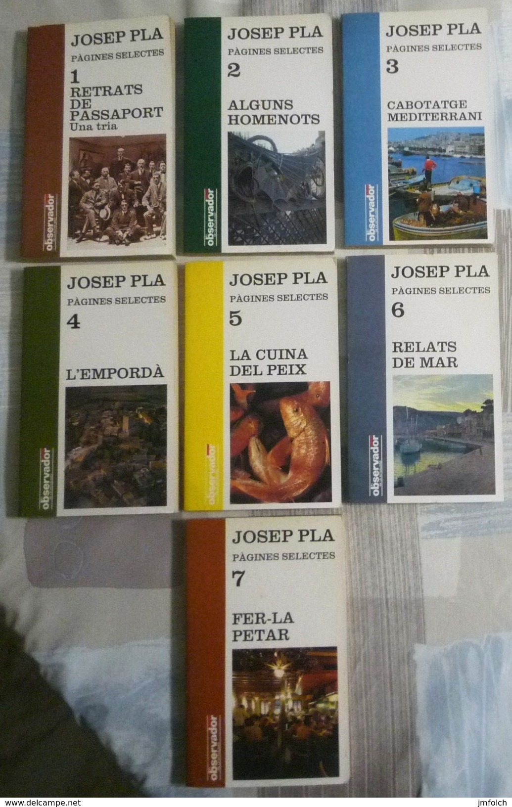 PÀGINES SELECTES. JOSEP PLA.  COLECCION DE SIETE LIBROS EN LENGUA CATALANA - Novelas