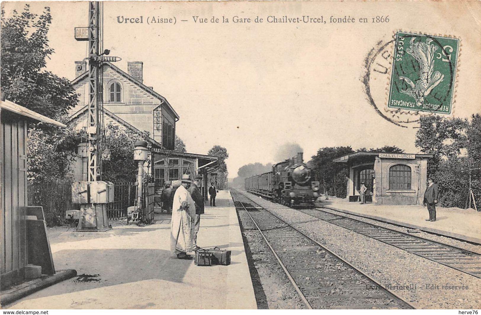 URCEL - Vue De La Gare De Chailvet-Urcel, Fondée En 1866 - Train - Other Municipalities