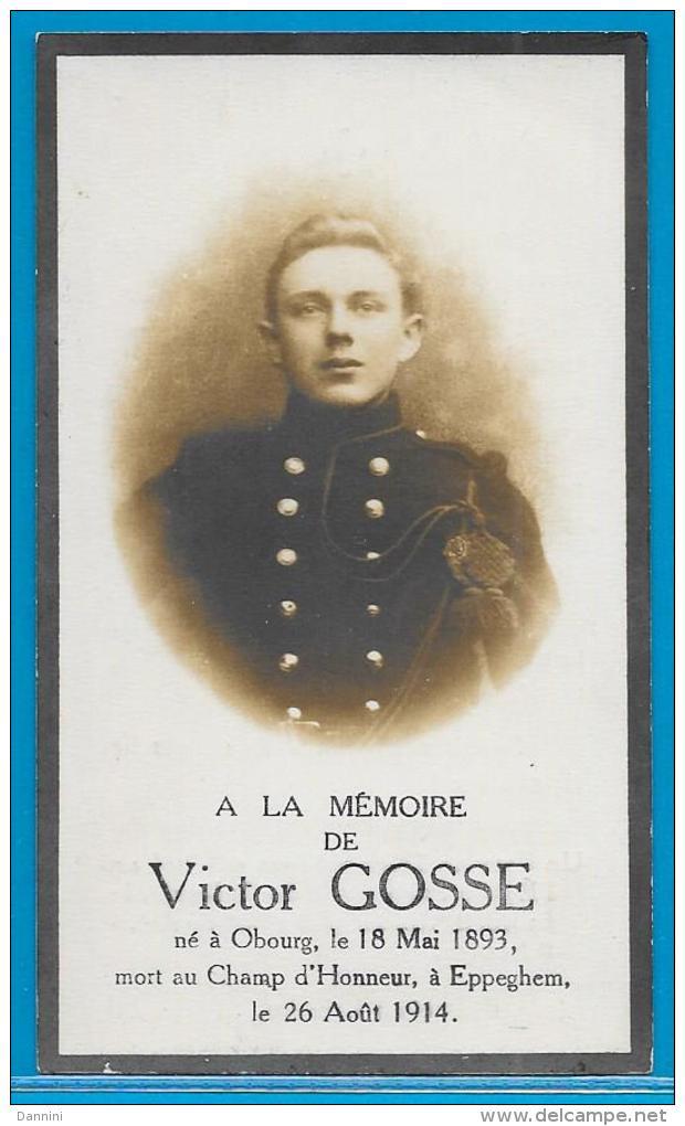Souvenir Pieux De Victime De Guerre - Victor Gosse - Obourg - Eppegem - 1893 - 1914 - Images Religieuses