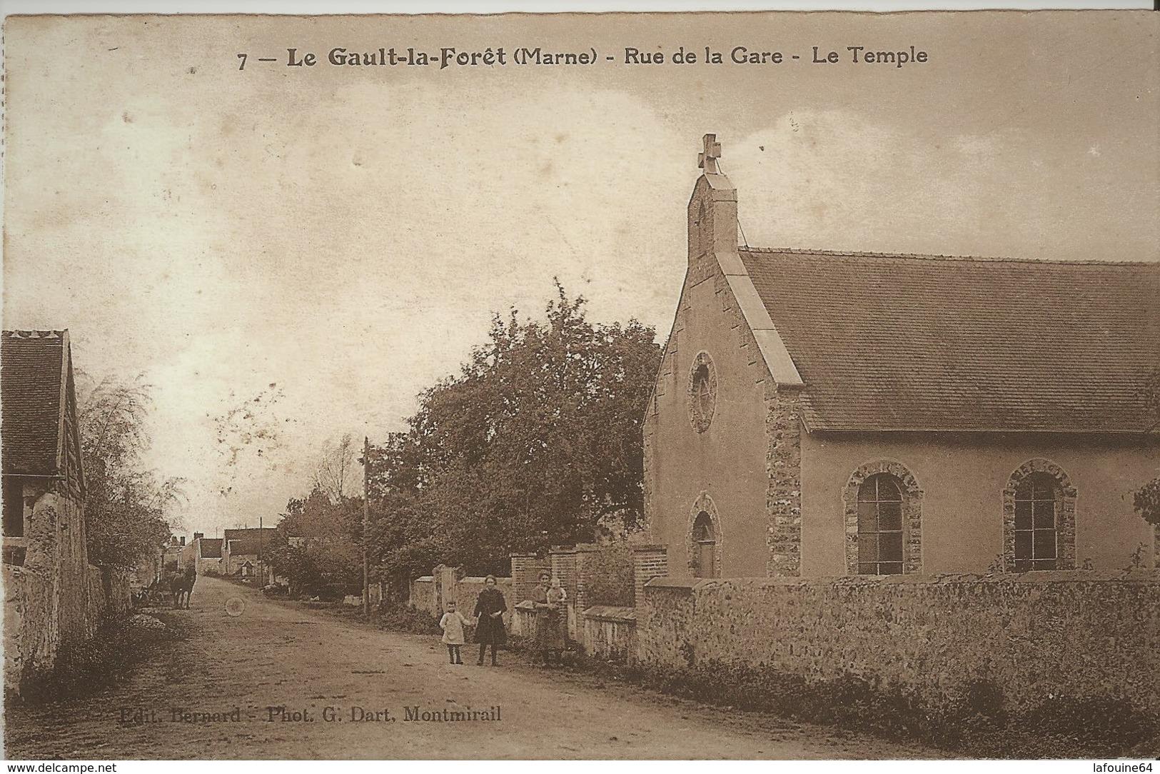 LE GAULT LA FORET  - Le Temple Protestant  - Rue De La Gare - France