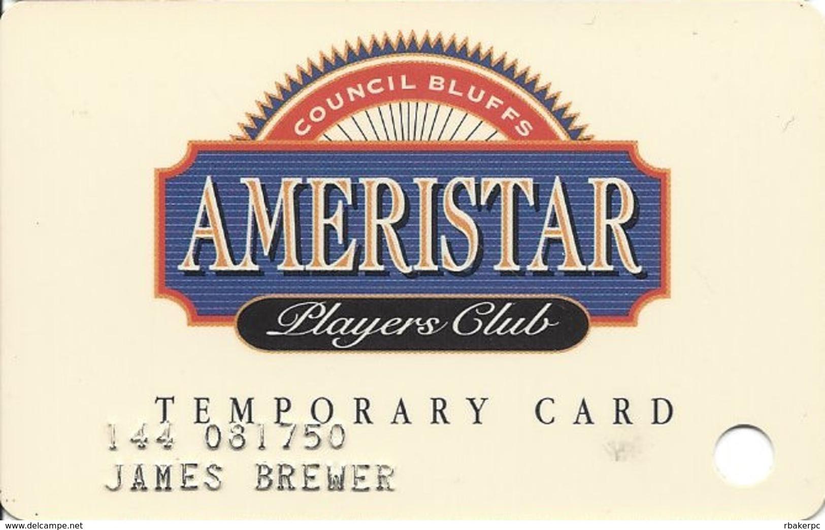 Ameristar Casino - Council Bluffs, IA - Special Issue Temporary Slot Card - Casino Cards