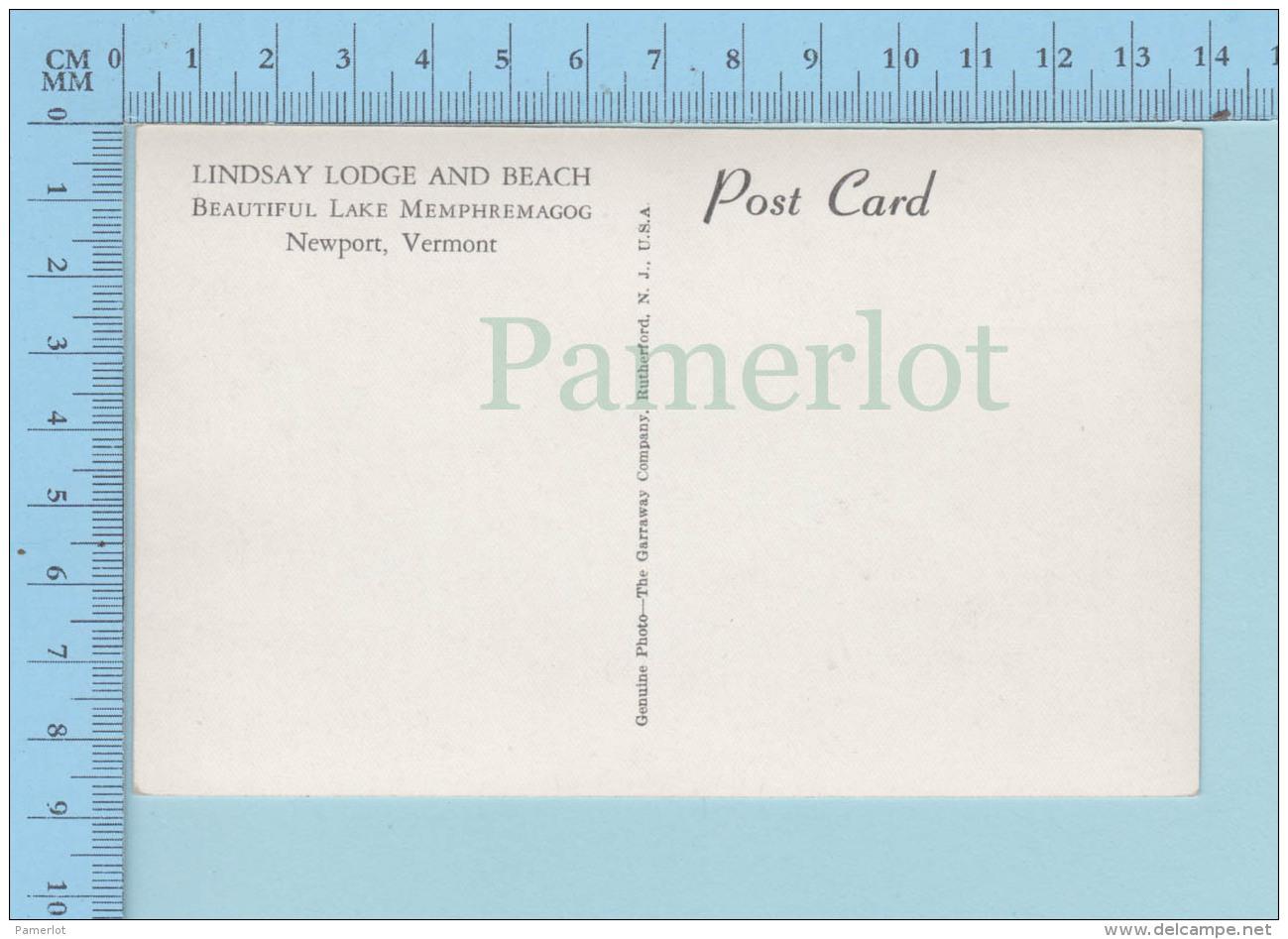 New Port Vermont,RPPC  Real  Photo Vrai,  Lindsay Lodge And Beach, Postcard Carte Postale - Etats-Unis