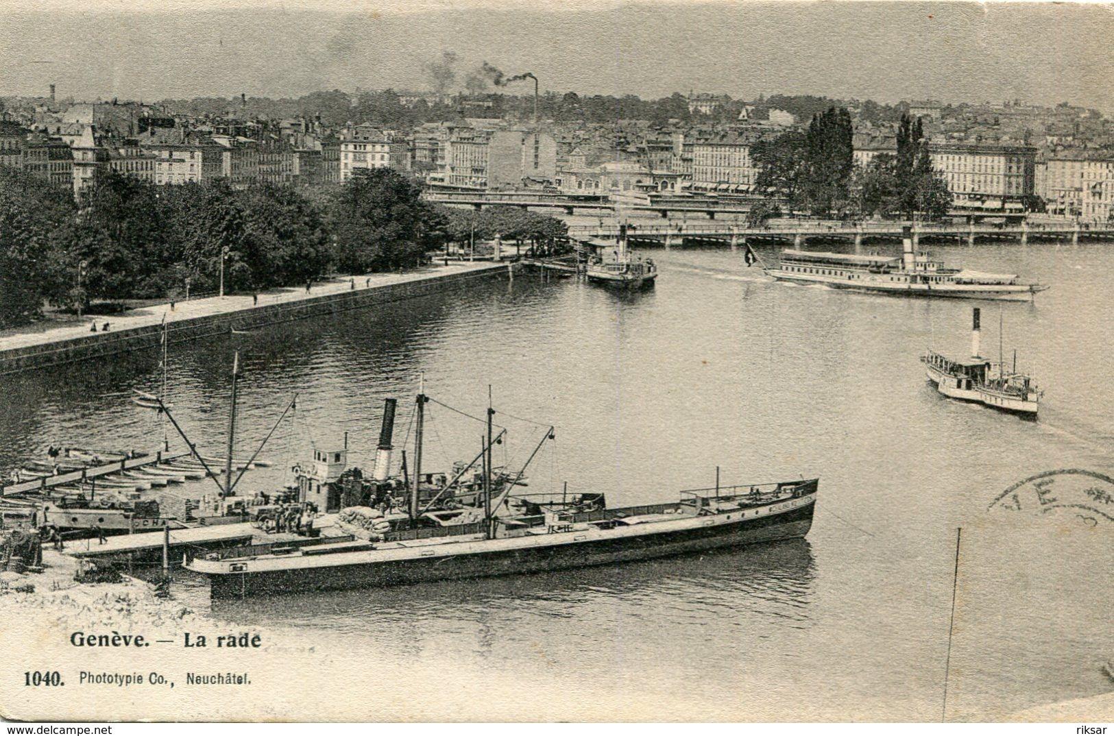 BATEAU(LAC LEMAN) GENEVE - Transbordadores