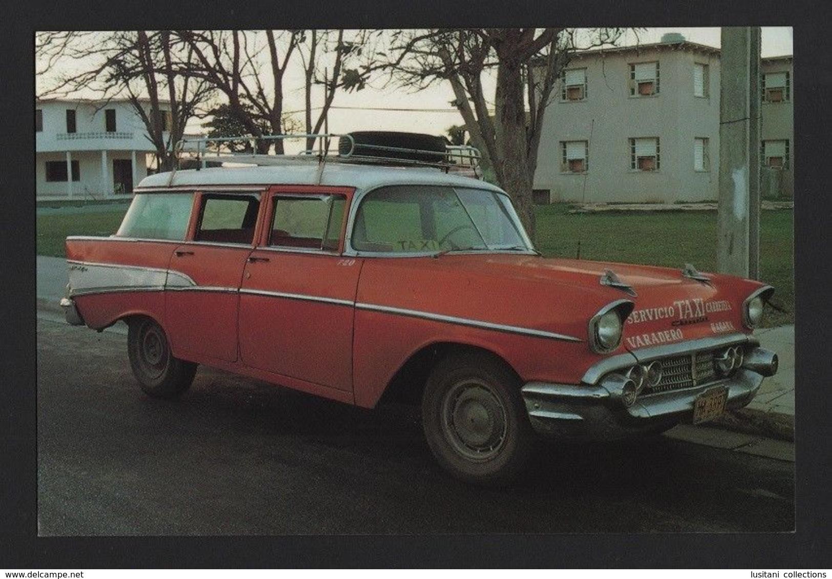CUBA VARADERO Year1992 Postcard TAXI CAR STATION VAGON Cars CHEVROLET Automobile TAXIS - Taxi & Carrozzelle
