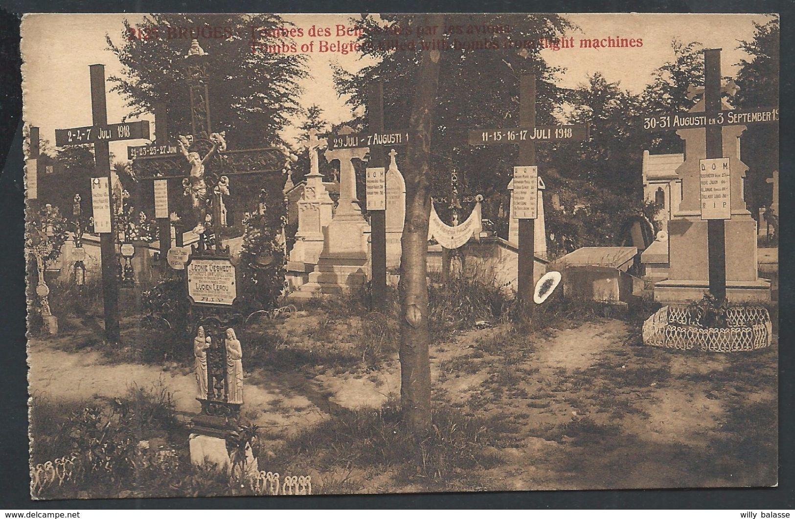 +++ CPA - BRUGGE - BRUGES - Tombes Des Belges Tués Par Les Avions - Guerre  // - Brugge