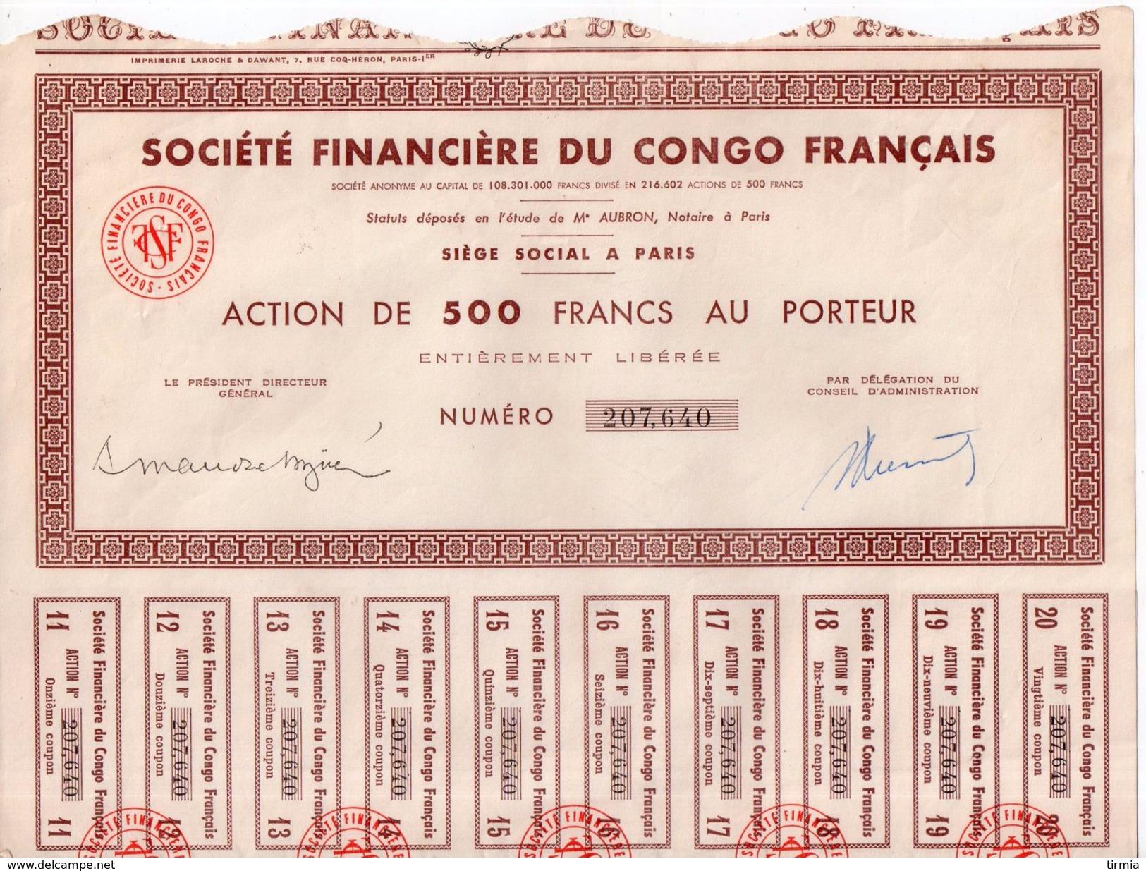 Société Financiére Du Congo Français - - Textile