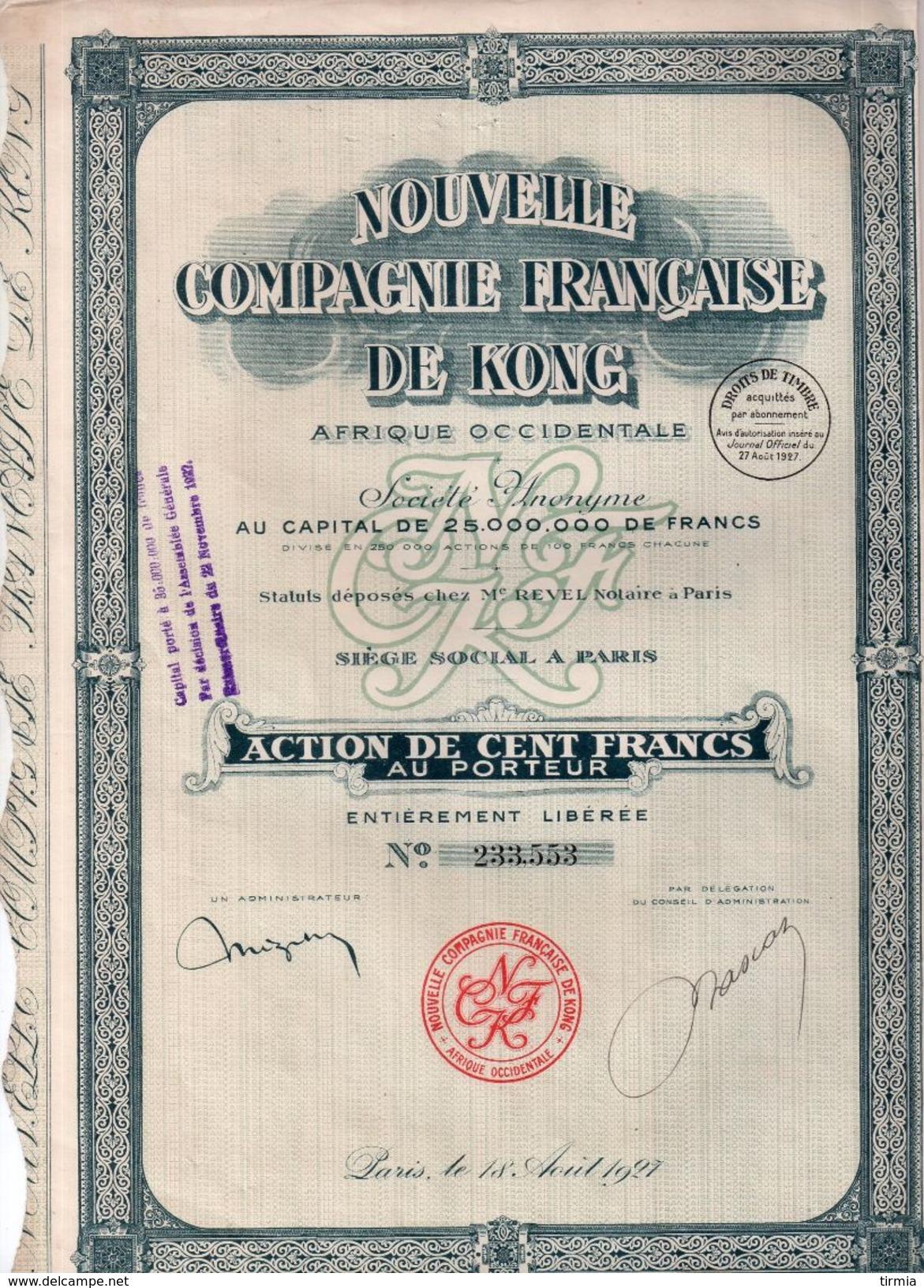 Nouvelle Compagnie Française De Kong - 1927 - Textile