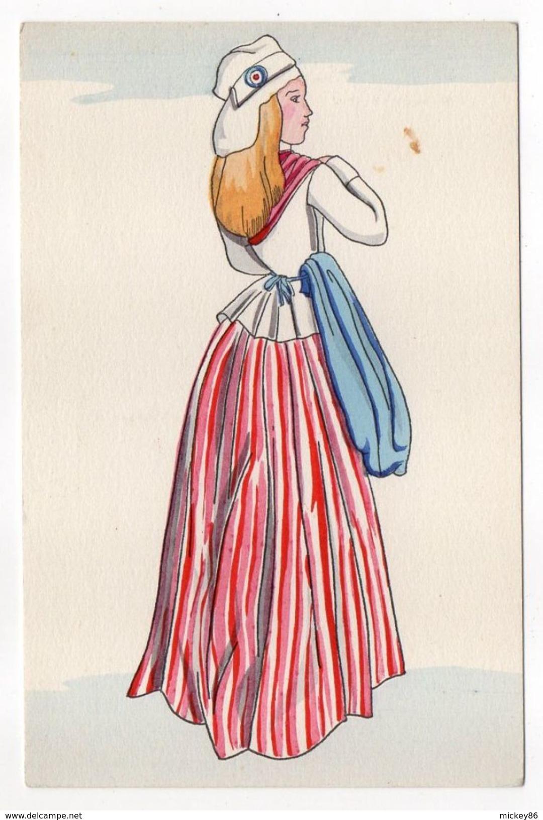 Histoire --Histoire Du Costume Français---Révolution  1792 -- Cocarde Sur Bonnet Phrygien - Histoire