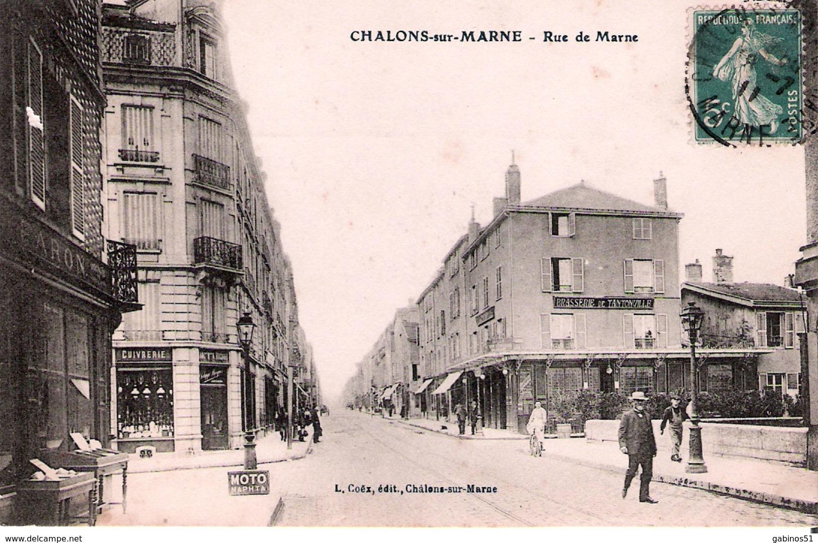51 Chalons Sur Marne La Rue De Marne - Châlons-sur-Marne