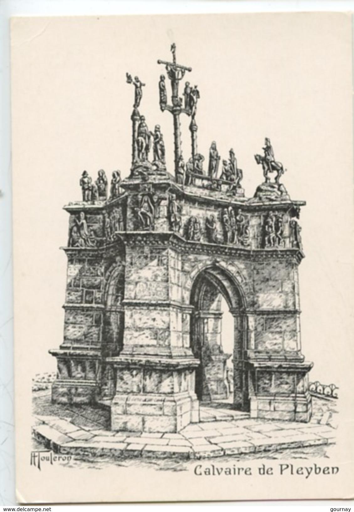 Pleyben  : Le Calvaire - H. Touleron Illustrateur (gravure) - Pleyben