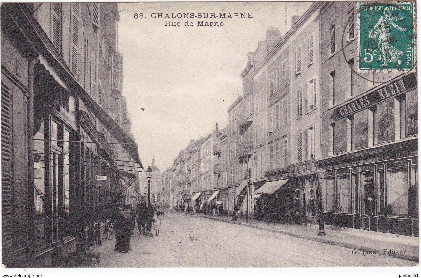 51 Chalons Sur Marne Rue De Marne N°68 - Châlons-sur-Marne