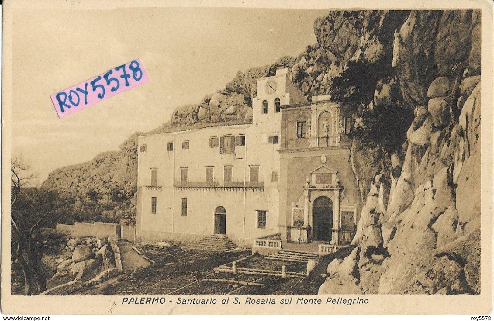 Sicilia-palermo Monte Pellegrino Veduta Santuario Santa Rosalia Patrona Di Palermo - Palermo