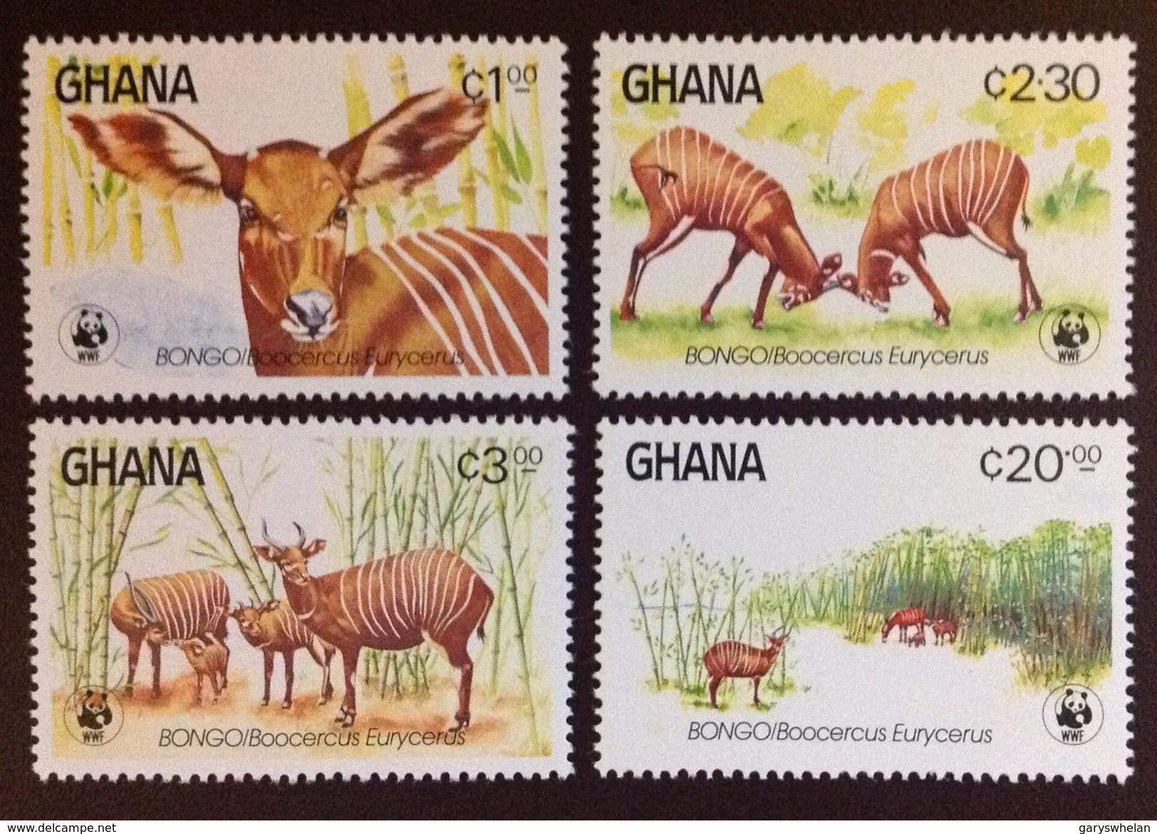 Ghana 1984 WWF Endangered Antelopes Animals Bongo MNH - Unclassified