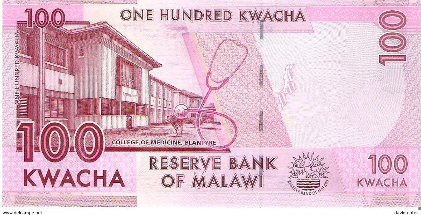 Malawi - Pick 65b - 100 Kwacha 2016 - Unc - Malawi