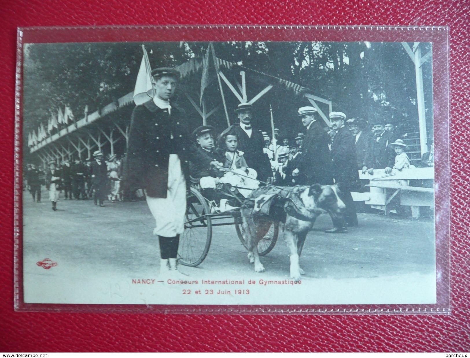 NANCY 1913 Concours International De Gymnastique. Voiture Chien - Nancy