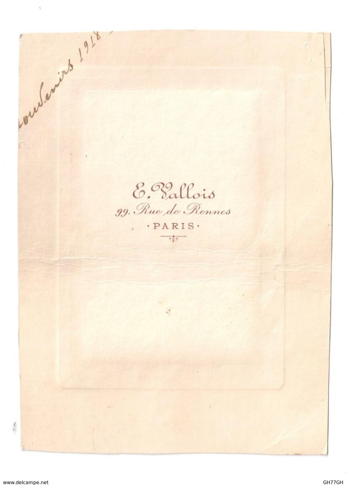 """Photographie """"souvenirs 1918"""" - Guerre, Militaire"""
