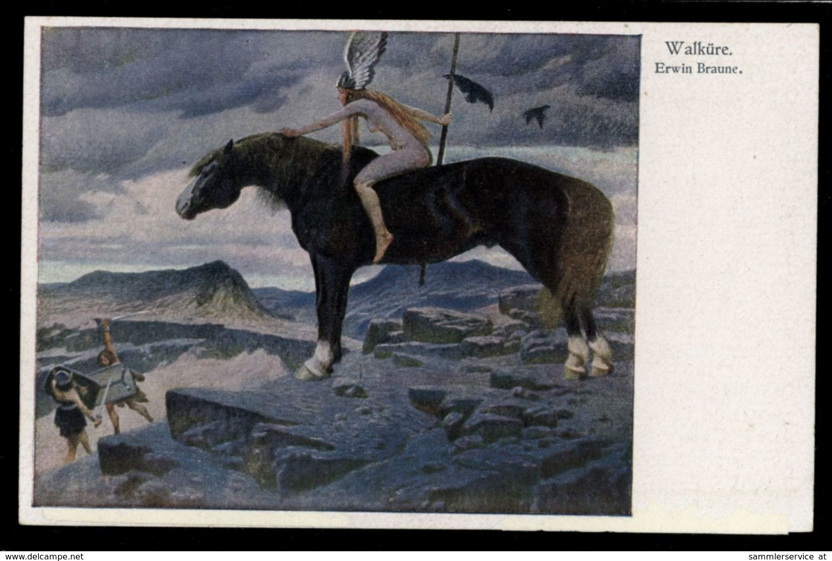 [015] Pferde-Karte 238, Walküre Mit Pferd, Künstlerkarte Erwin Braune, ~1910, Amag - Pferde