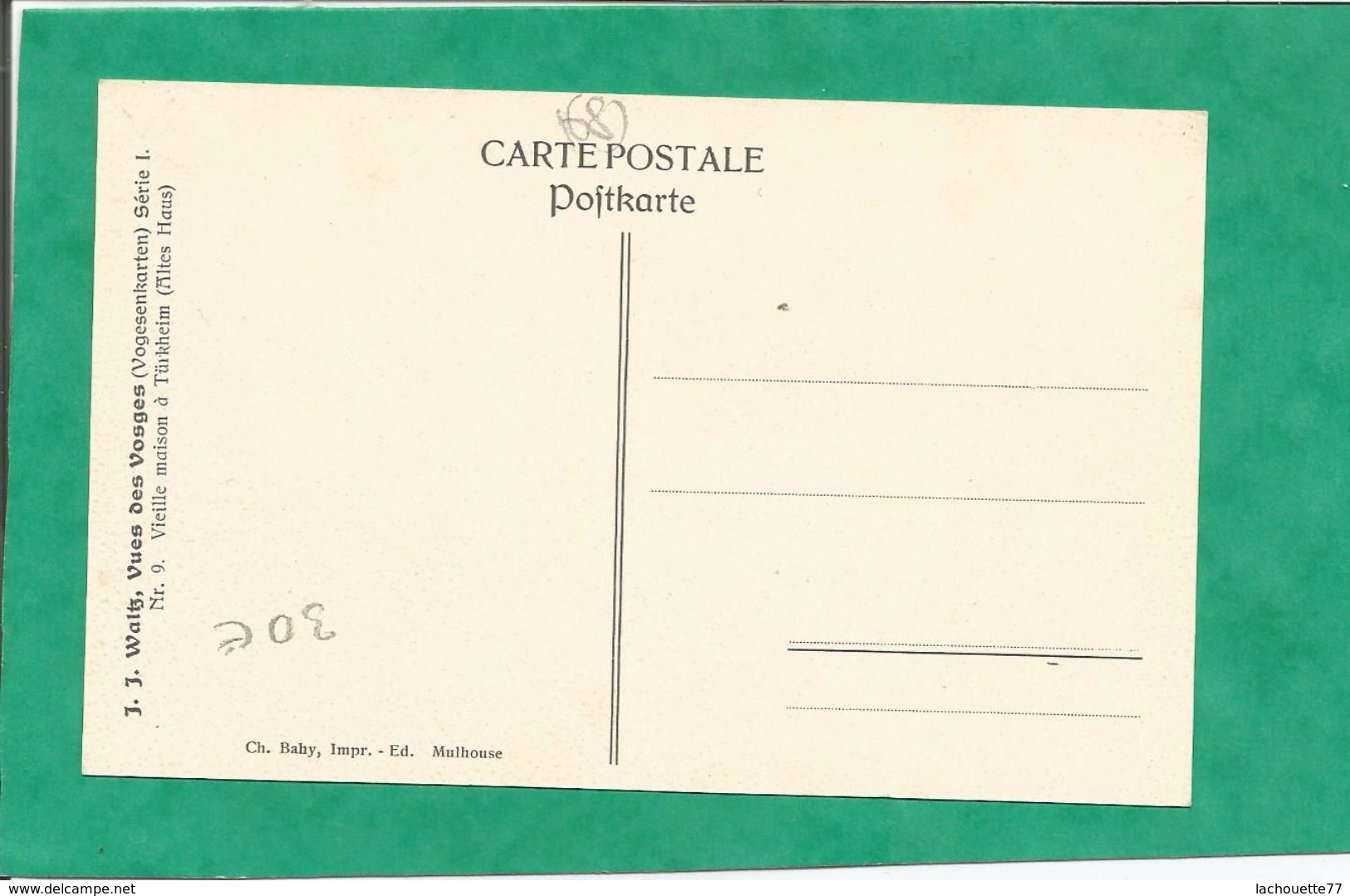 Hansi Carte N° 77  C.P A 1 Bon, état -Achat Immédiat -: FRAIS DE PORT OFFERTS D 68 - Hansi