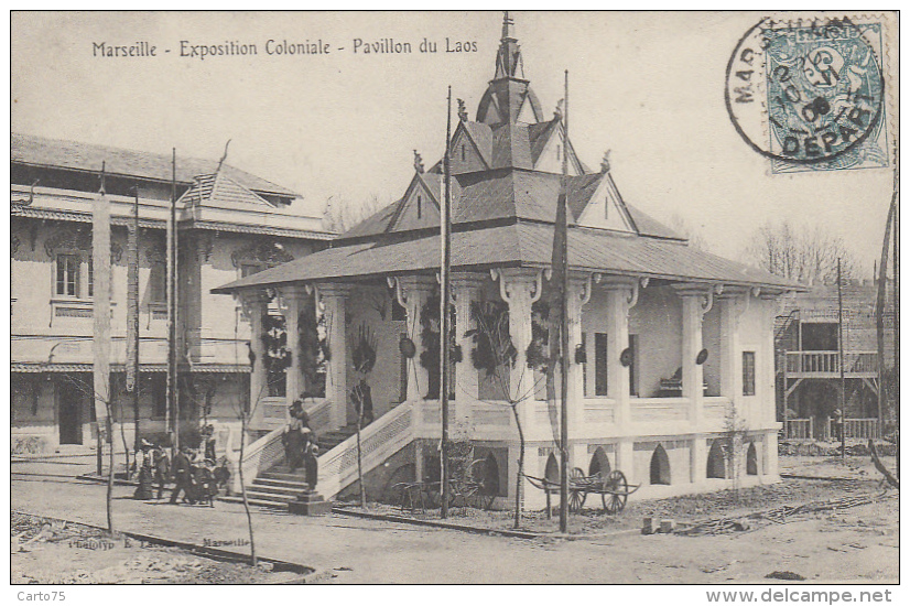 Laos - Exposition Coloniale Marseille - Pavillon - Laos