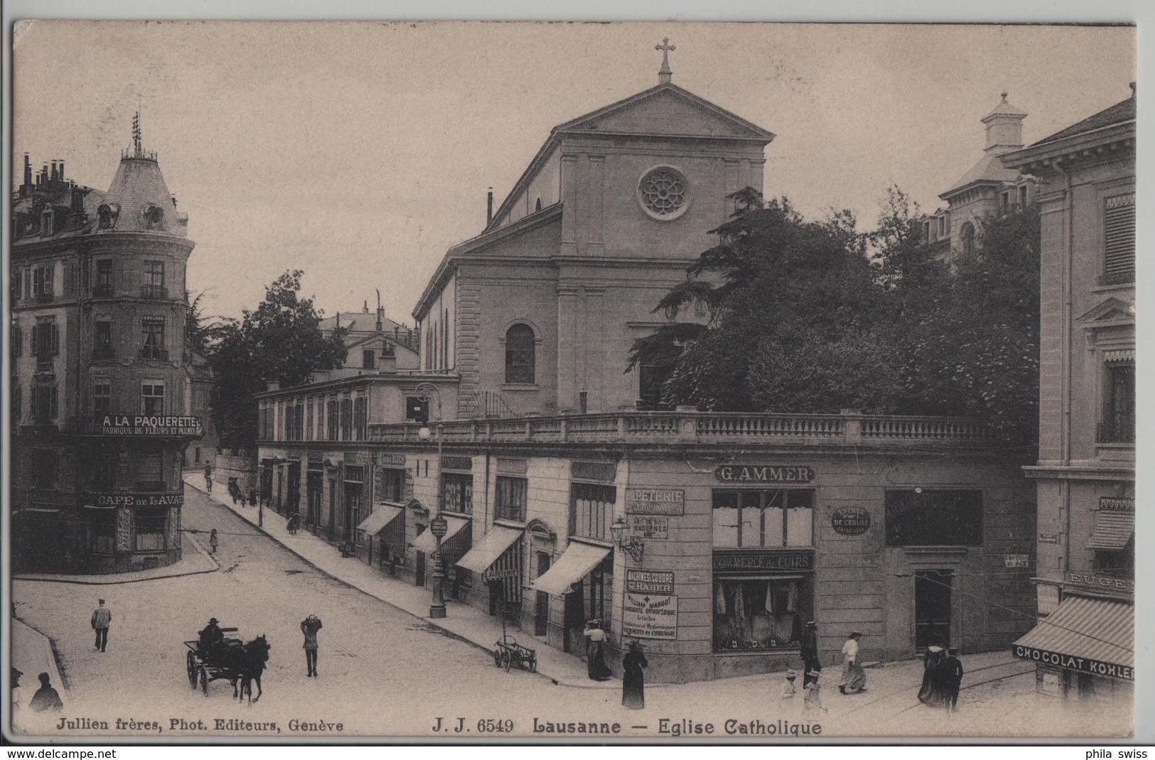 Lausanne - Eglise Catholique - G. Ammer - Animee - Photo: Jullien Freres - VD Vaud