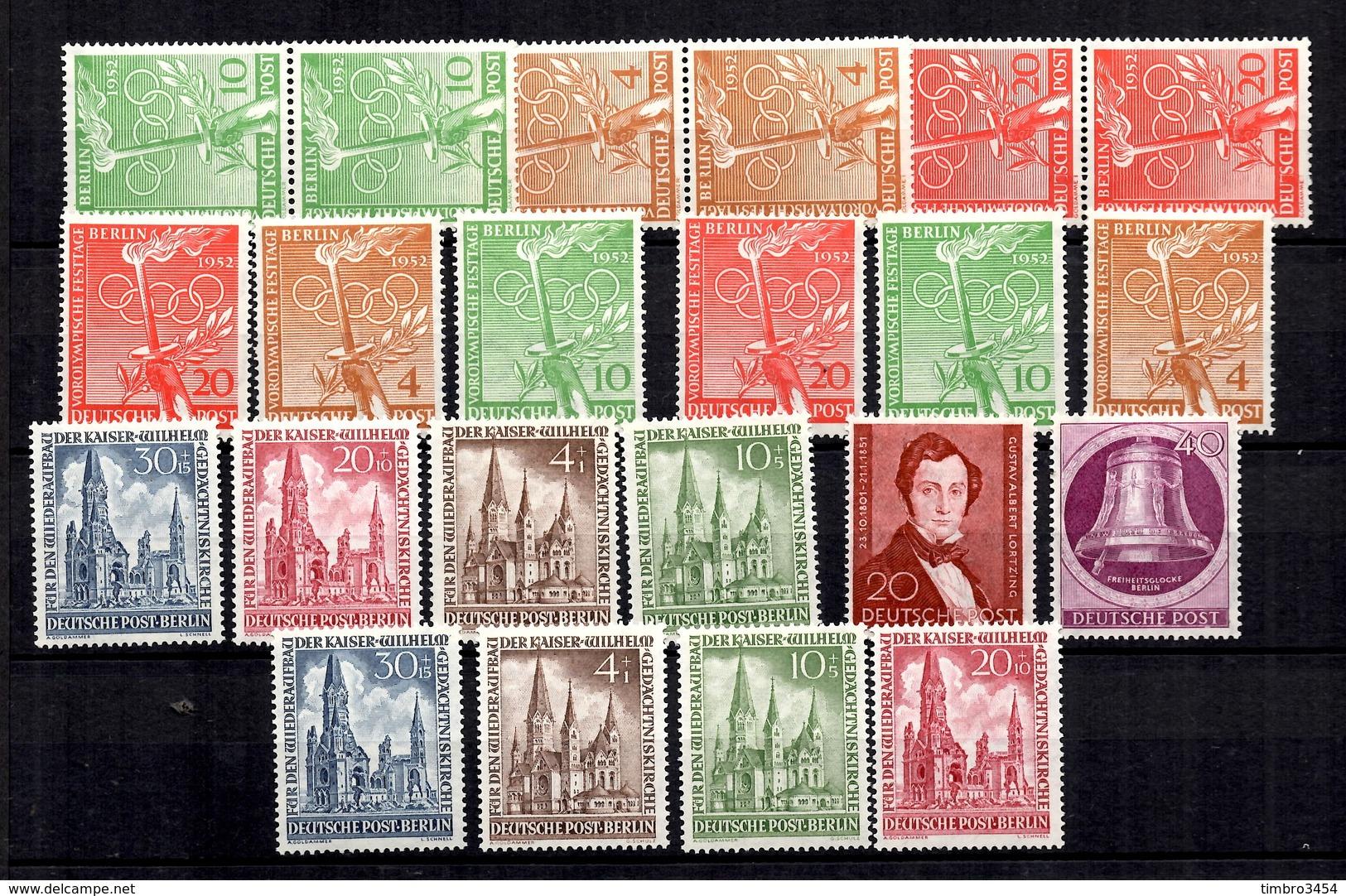 Berlin Belle Petite Collection Neufs ** MNH 1951/1954. Bonnes Valeurs. TB. A Saisir! - [5] Berlín