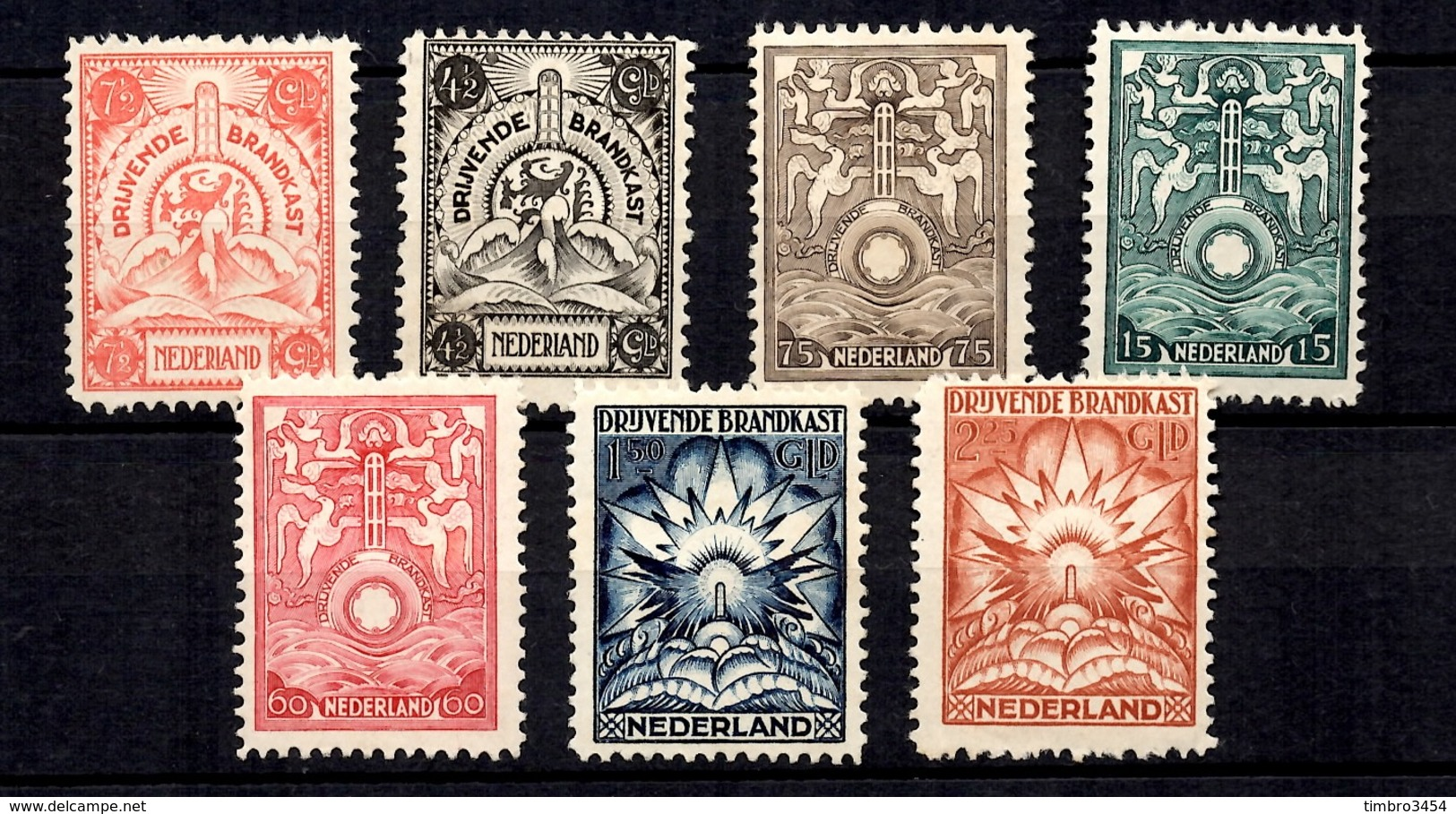 Pays-Bas Série Coffres-forts Flottants De 1921 YT N° 1/7 Neufs (*). Bonne Série. B/TB. A Saisir! - Period 1891-1948 (Wilhelmina)