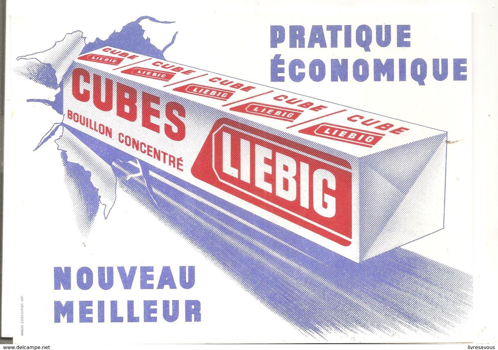 Buvard LIEBIG Cubes Bouilllon Concentré Pratique Econonomique Nouveau Meilleur - Sopas & Salsas