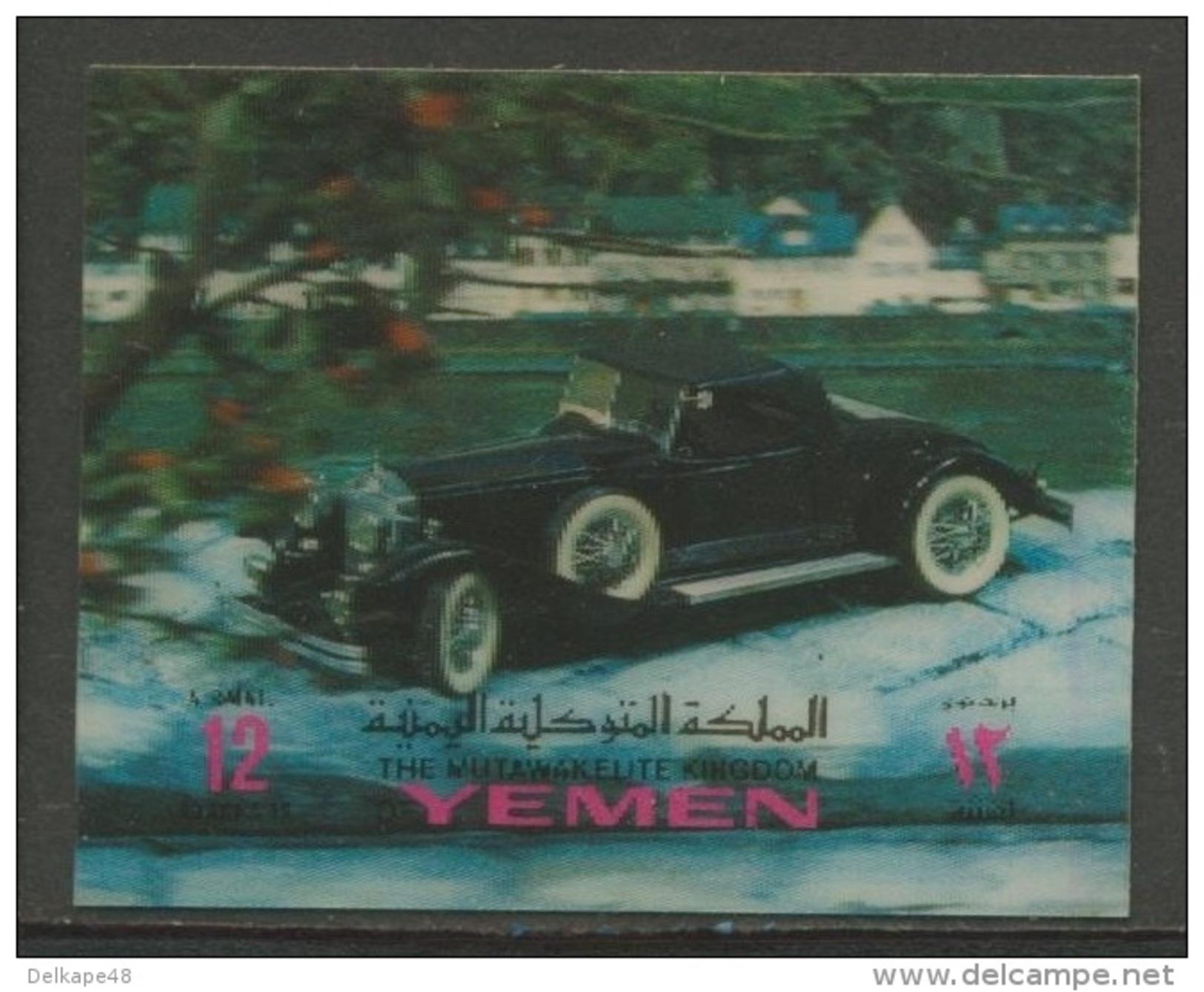 Yemen -North (Kingdom) Jemen -Nord (Königreich) 1970 Mi 1071 Aero - Plastic Coating ** Historic Auto / Automobile - Auto's
