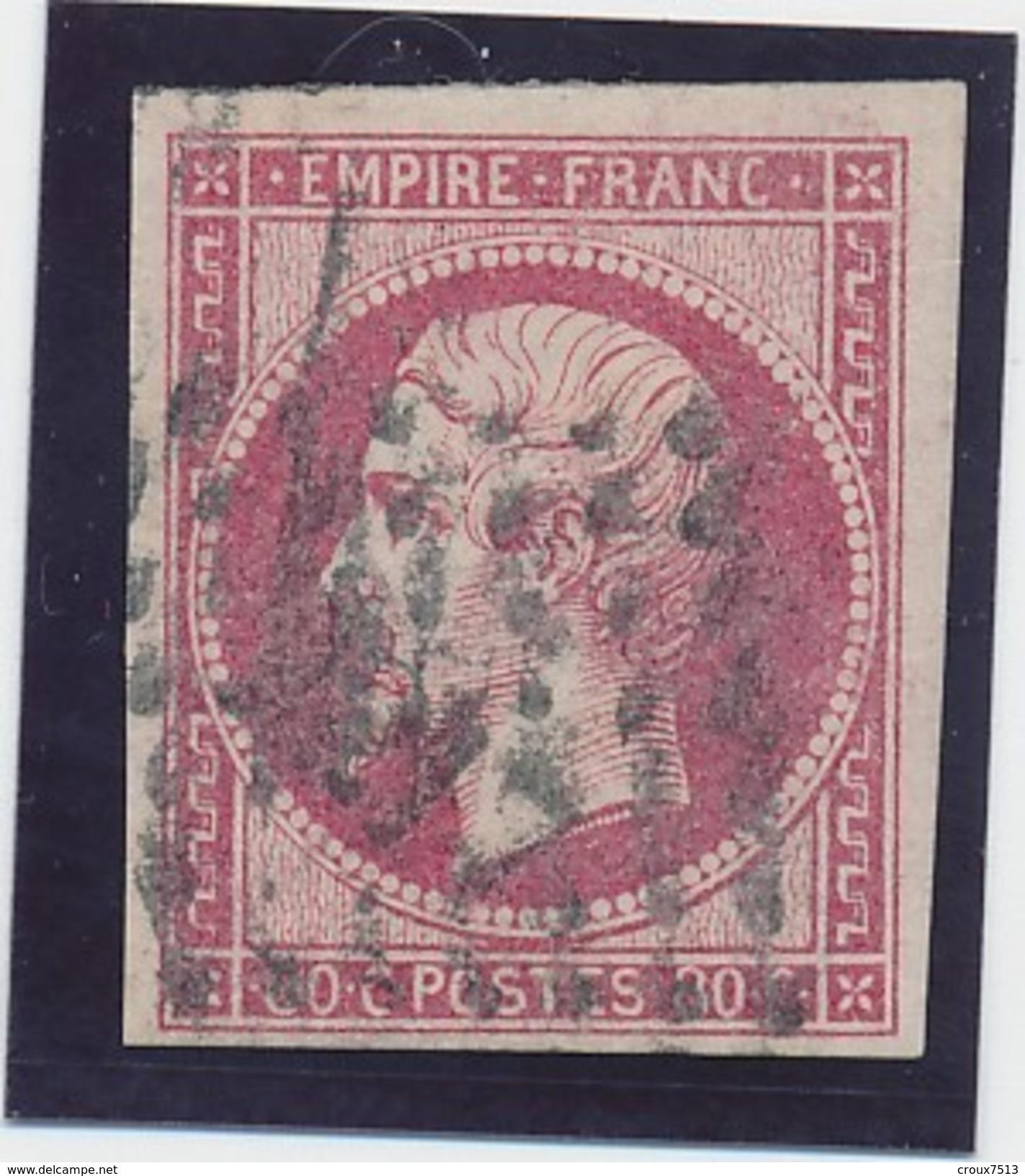 Empire ND 80 C N° 17 B Rose B. - 1853-1860 Napoléon III