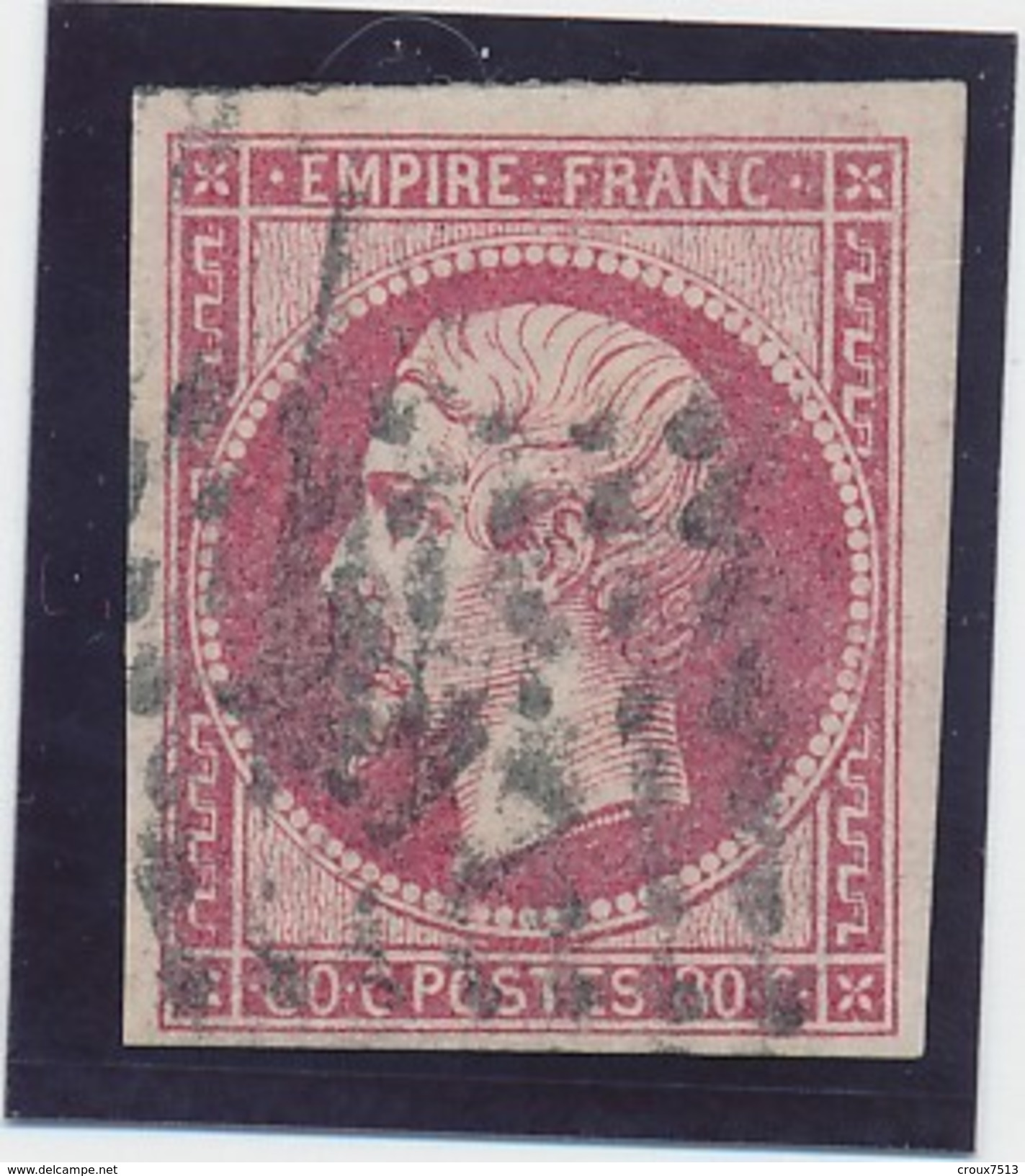 Empire ND 80 C N° 17 B Rose B. - 1853-1860 Napoleon III