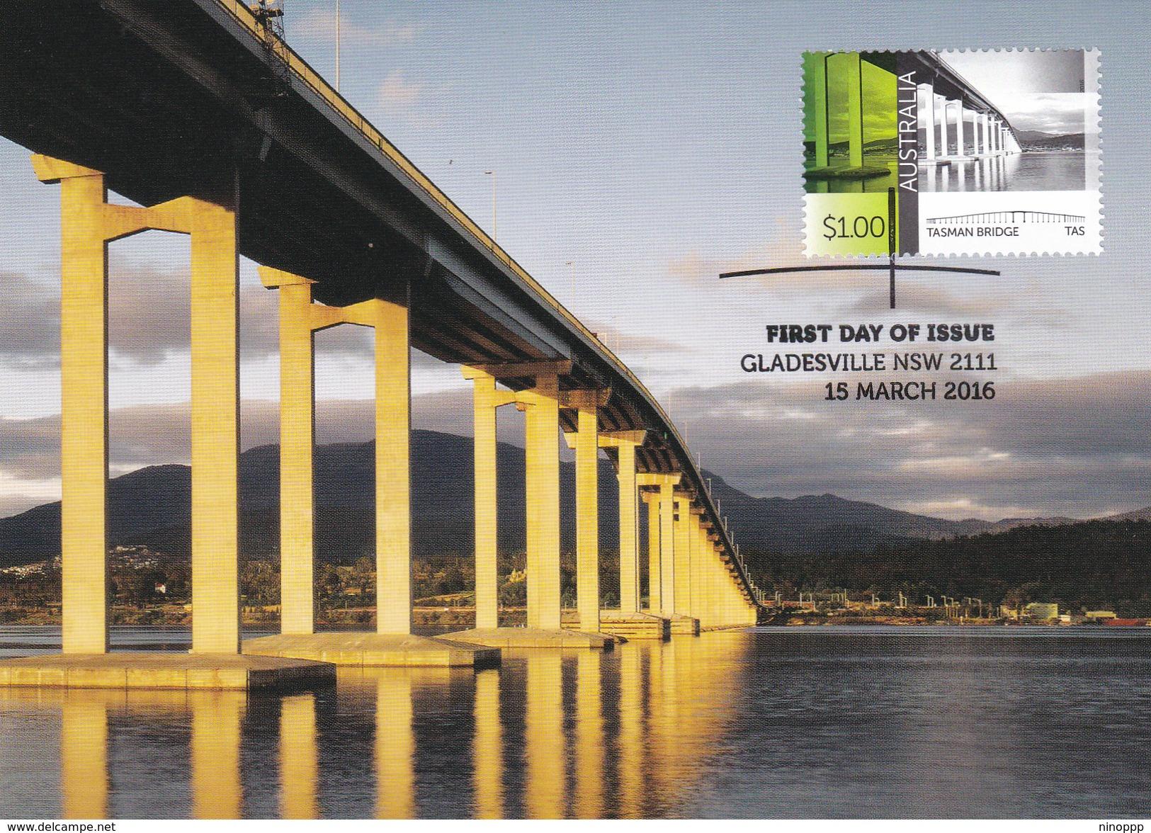 Australia 2015 Australian Bridges, Tasman Bridge, Maximum Card - Cartes-Maximum (CM)