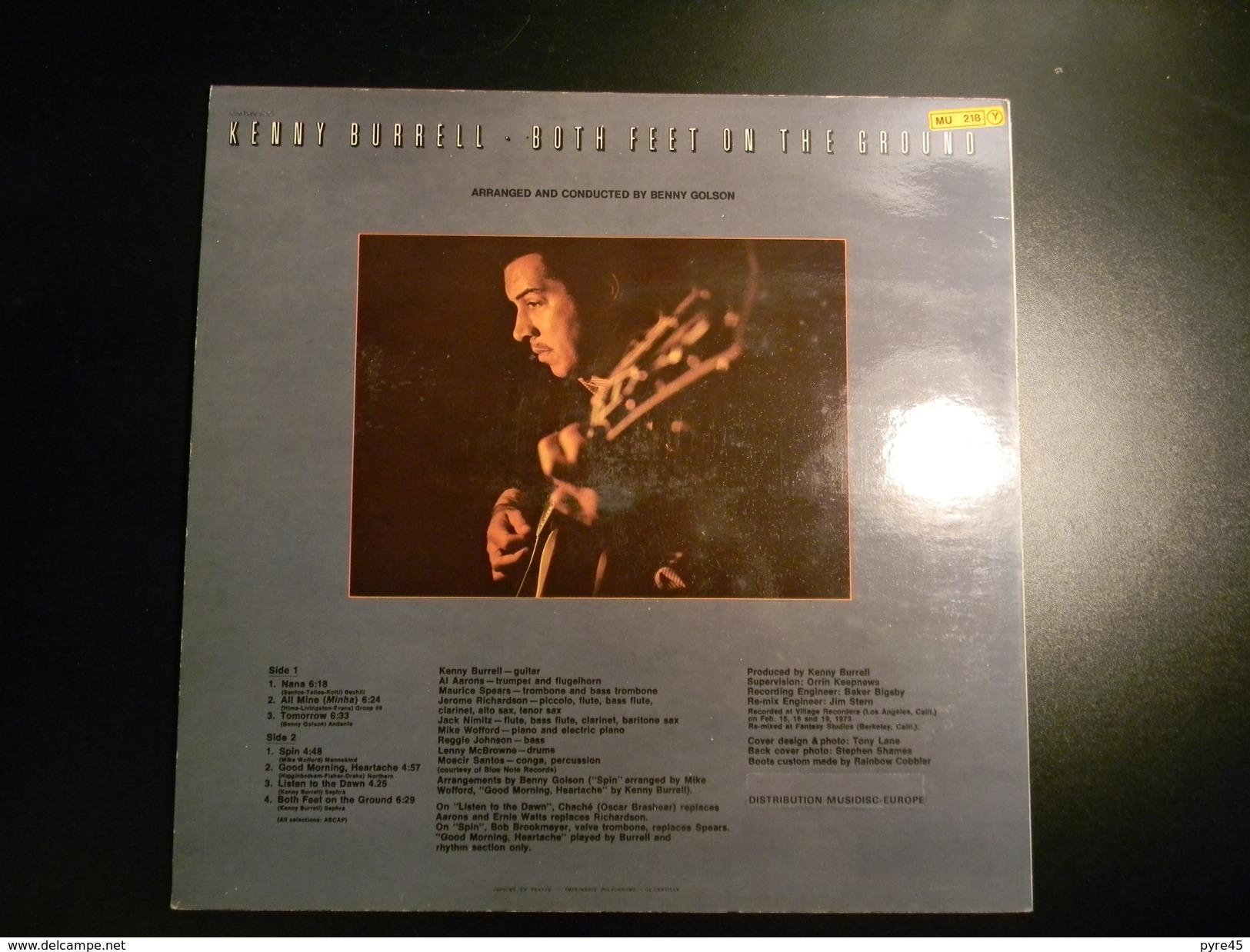 33 TOURS KENNY BURRELL BOTH FEET ON THE GROUND MUSIDISC 6006 NANA / ALL MINE / TOMORROW / SPIN / + 3 - Vinyl-Schallplatten