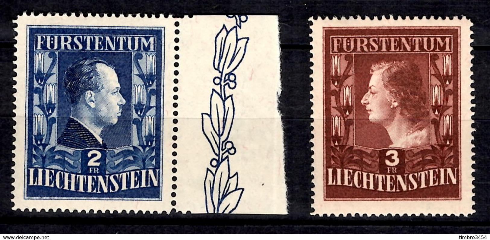 Liechtenstein YT N° 266A/267A Dentelés 15 Neufs ** MNH. Rare! TB. A Saisir! - Liechtenstein